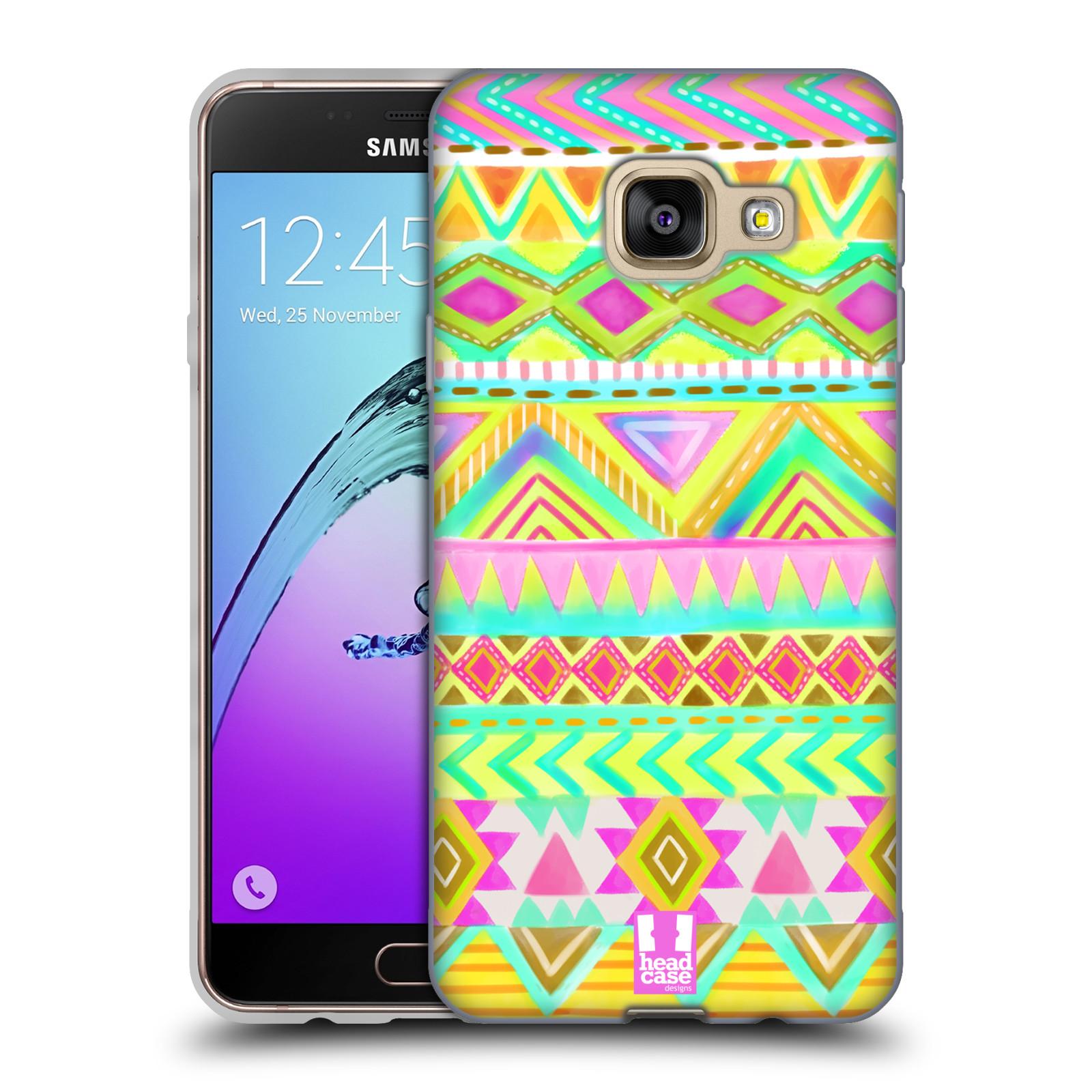 c95477274 HEAD CASE silikonový obal na mobil Samsung Galaxy A3 2016 vzor CIK CAK  barevné znaky VÝCHOD empty