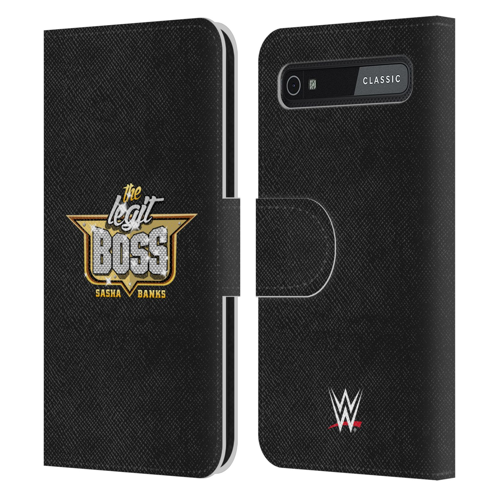 Book Cover Black Berry : Official wwe sasha banks leather book case for blackberry