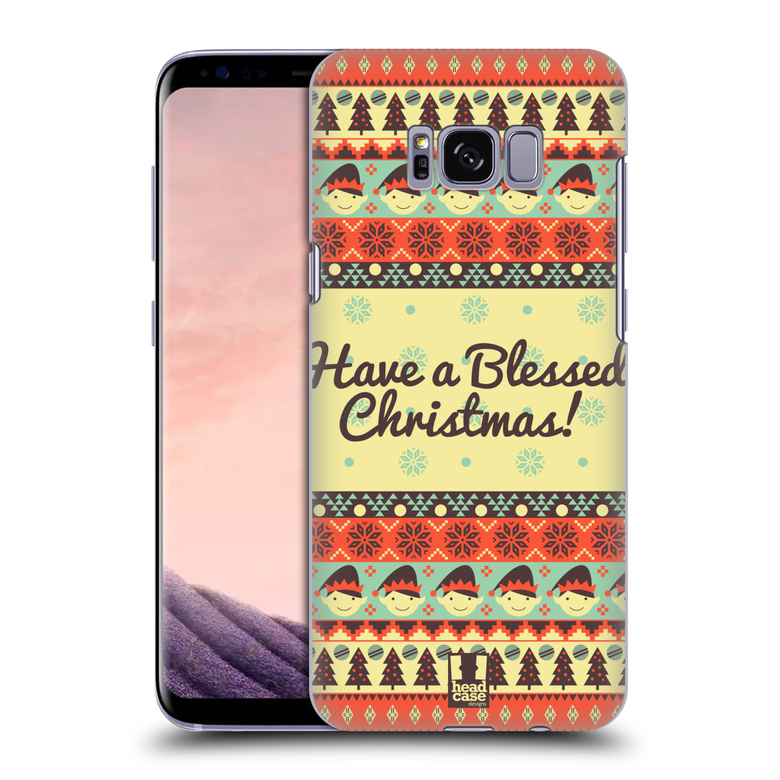 HEAD-CASE-DESIGNS-CHRISTMAS-AZTEC-HARD-BACK-CASE-FOR-SAMSUNG-GALAXY-S8