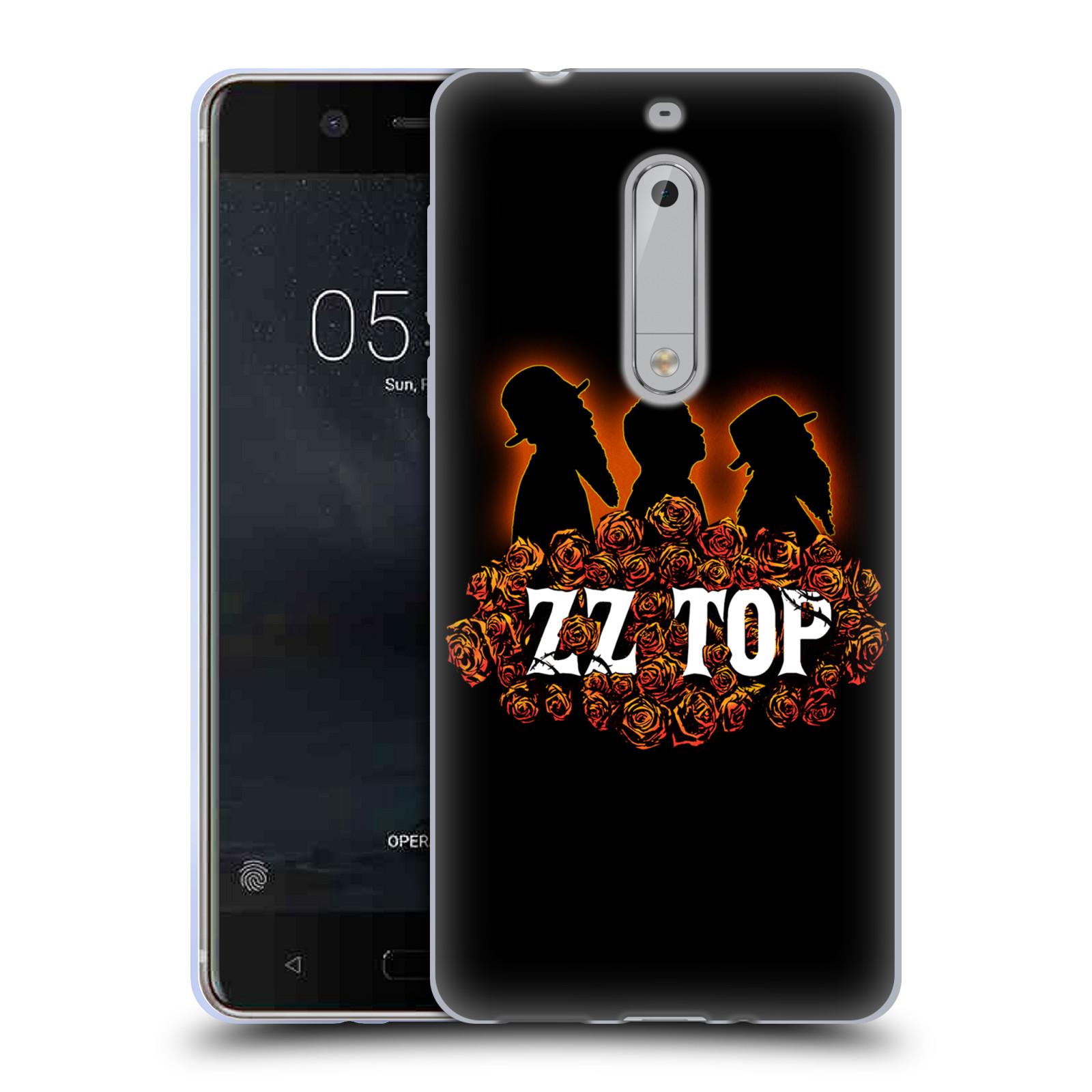 HEAD CASE silikonový obal na mobil Nokia 5 ZZ Top originální obal silueta