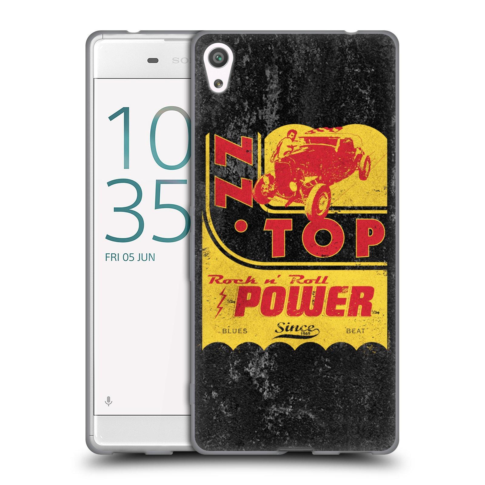 HEAD CASE silikonový obal na mobil Sony Xperia XA ULTRA ZZ Top originální obal retro power