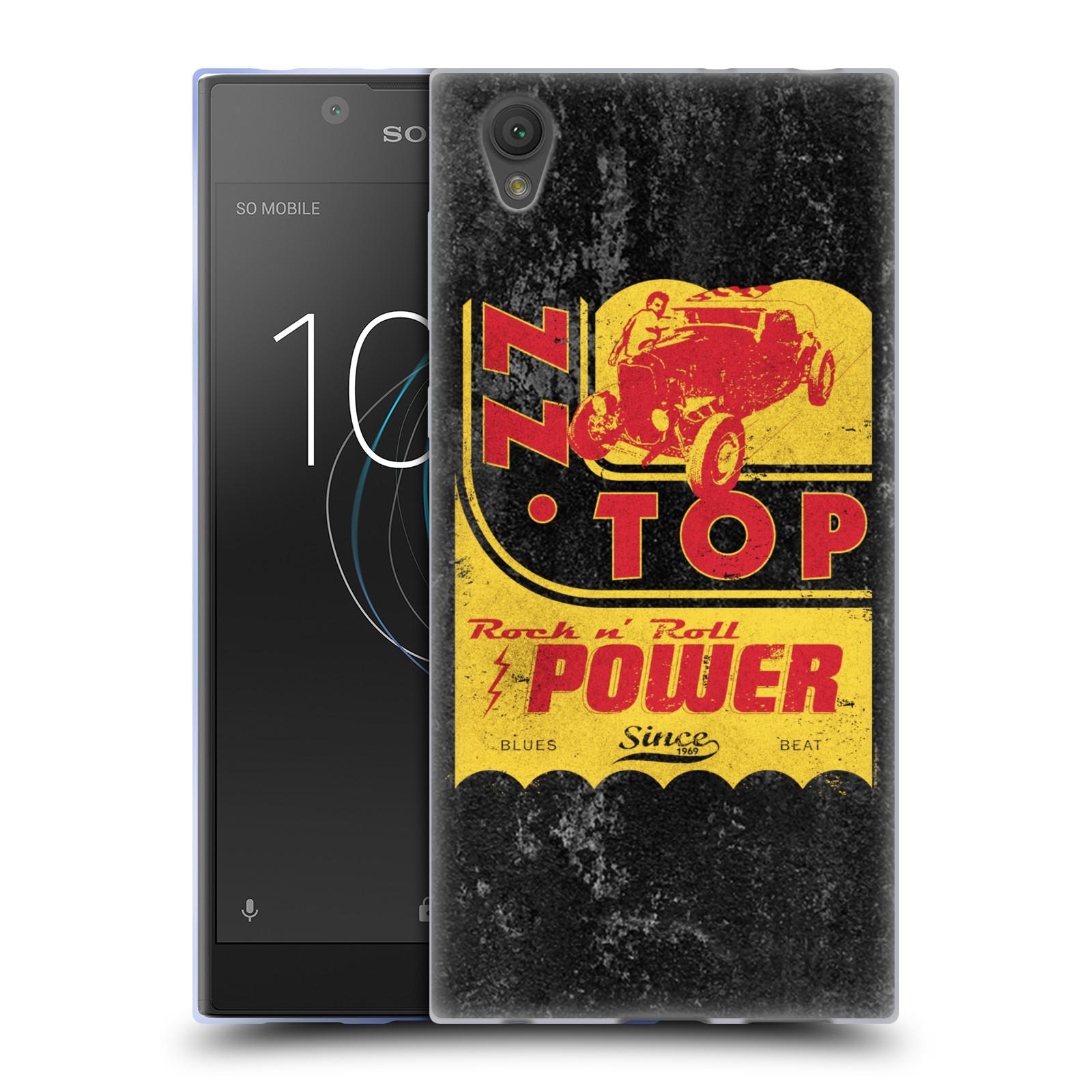 HEAD CASE silikonový obal na mobil Sony Xperia L1 ZZ Top originální obal retro power