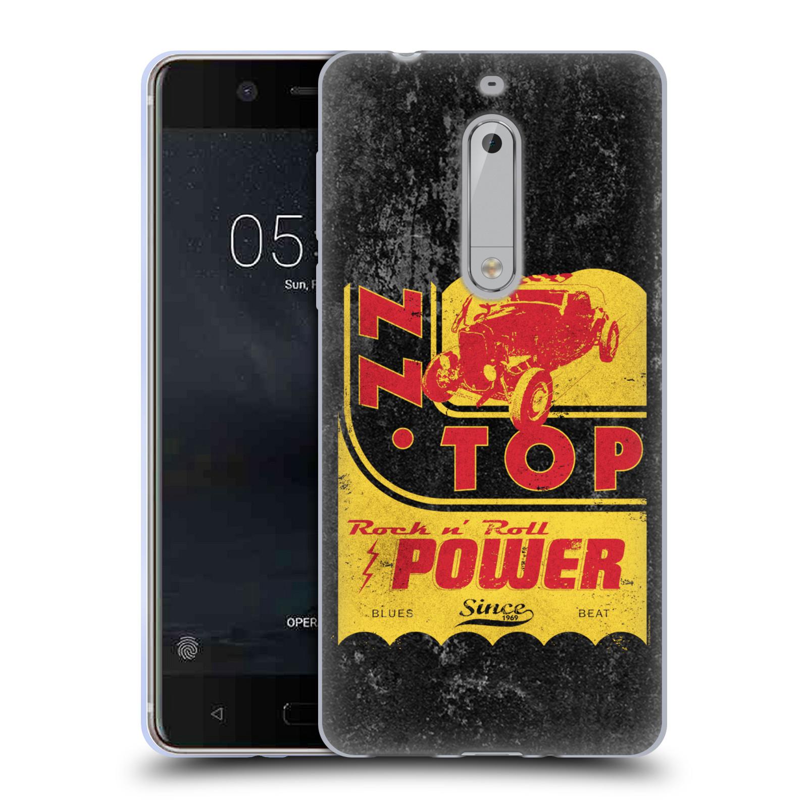 HEAD CASE silikonový obal na mobil Nokia 5 ZZ Top originální obal retro power