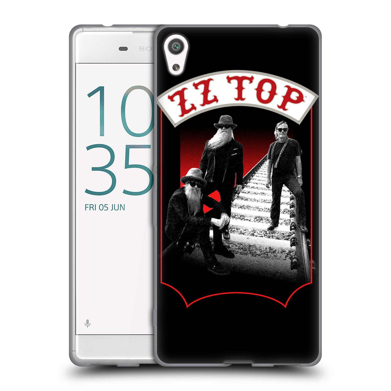 HEAD CASE silikonový obal na mobil Sony Xperia XA ULTRA ZZ Top koleje zpěváci