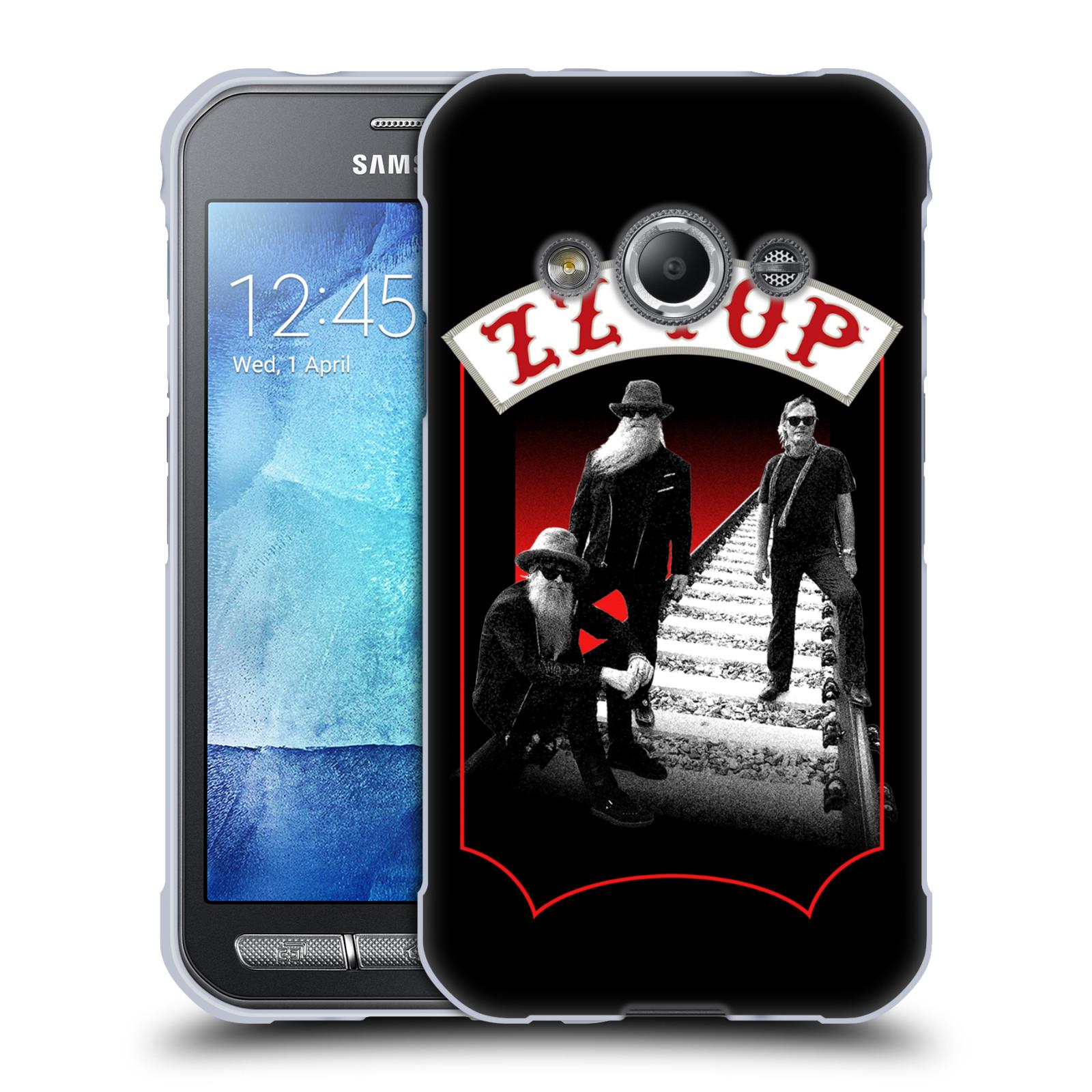 HEAD CASE silikonový obal na mobil Samsung Galaxy Xcover 3 ZZ Top koleje zpěváci
