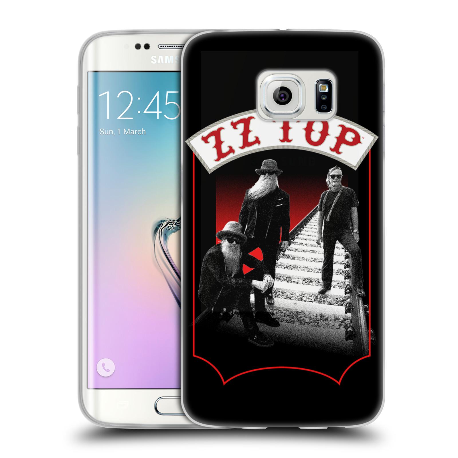 HEAD CASE silikonový obal na mobil Samsung Galaxy S6 EDGE ZZ Top koleje zpěváci