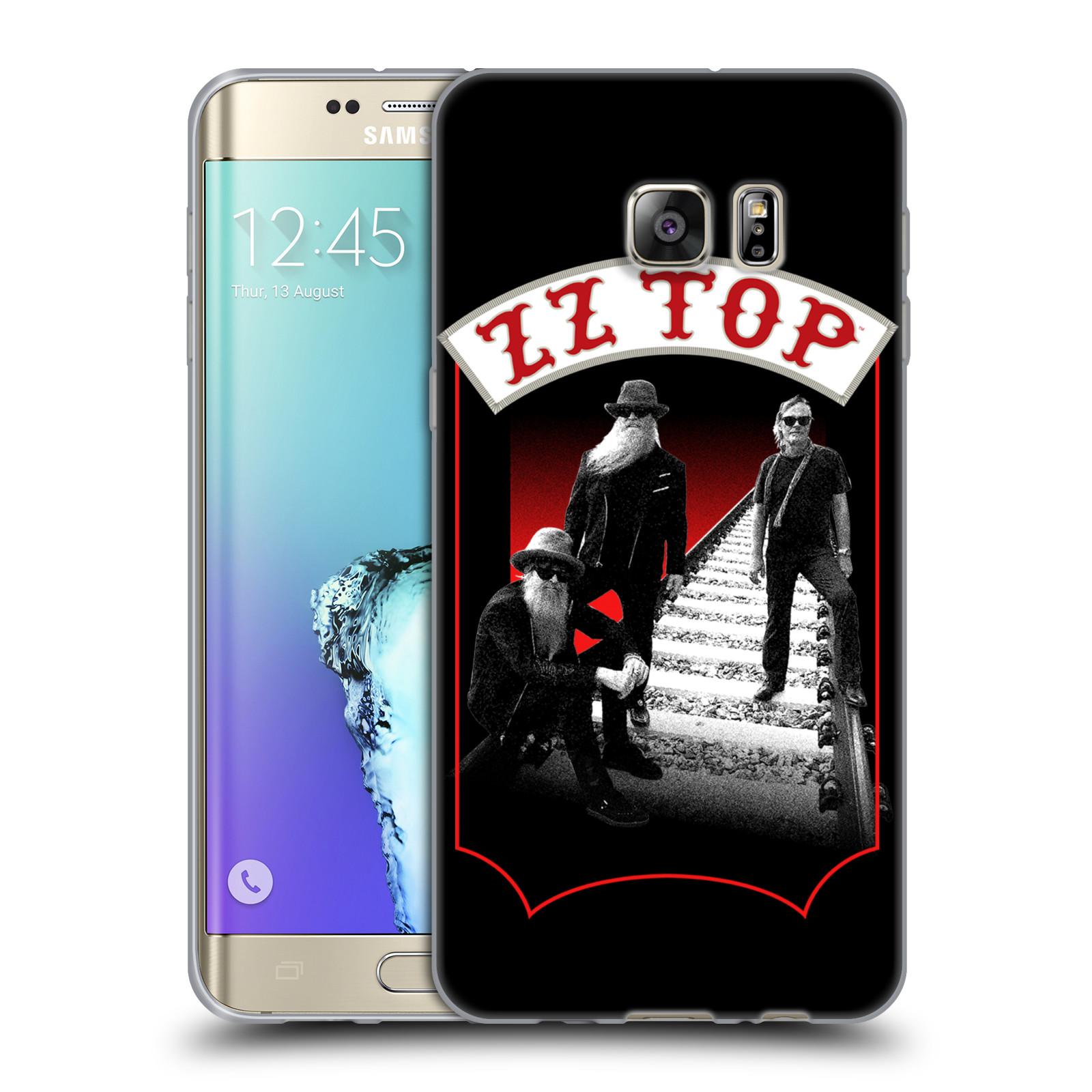 HEAD CASE silikonový obal na mobil Samsung Galaxy S6 EDGE PLUS ZZ Top koleje zpěváci
