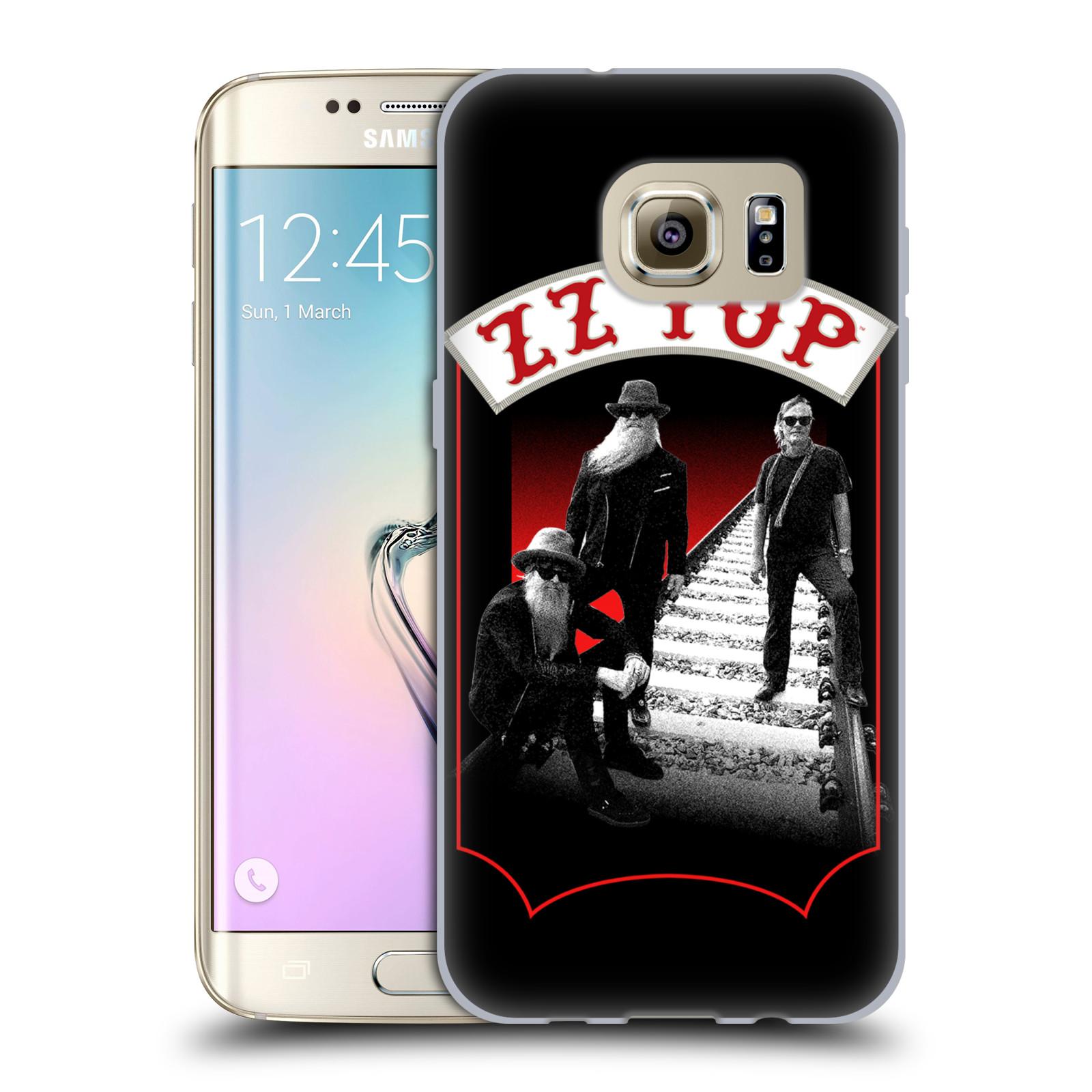 HEAD CASE silikonový obal na mobil Samsung Galaxy S7 EDGE ZZ Top koleje zpěváci