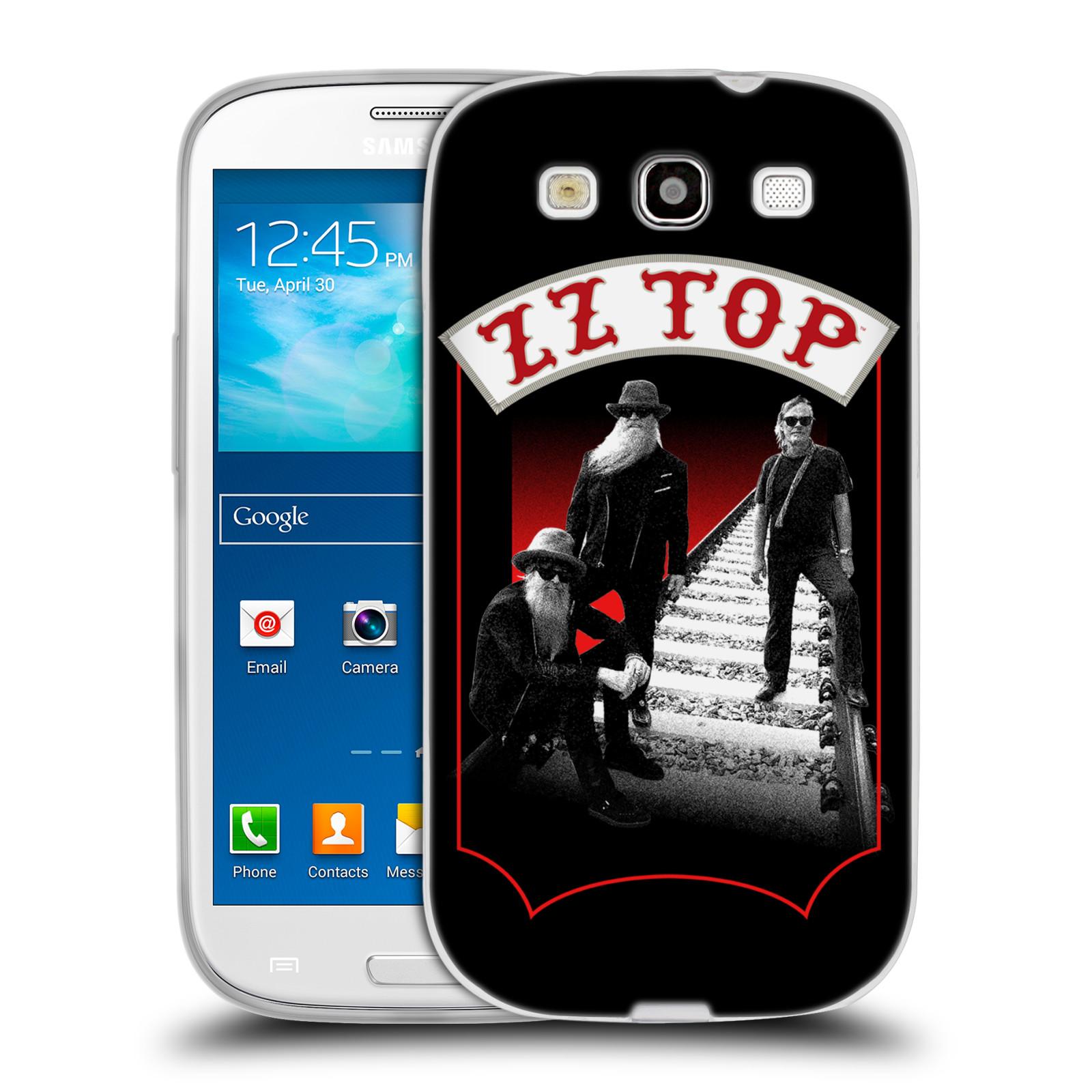 HEAD CASE silikonový obal na mobil Samsung Galaxy S3 ZZ Top koleje zpěváci