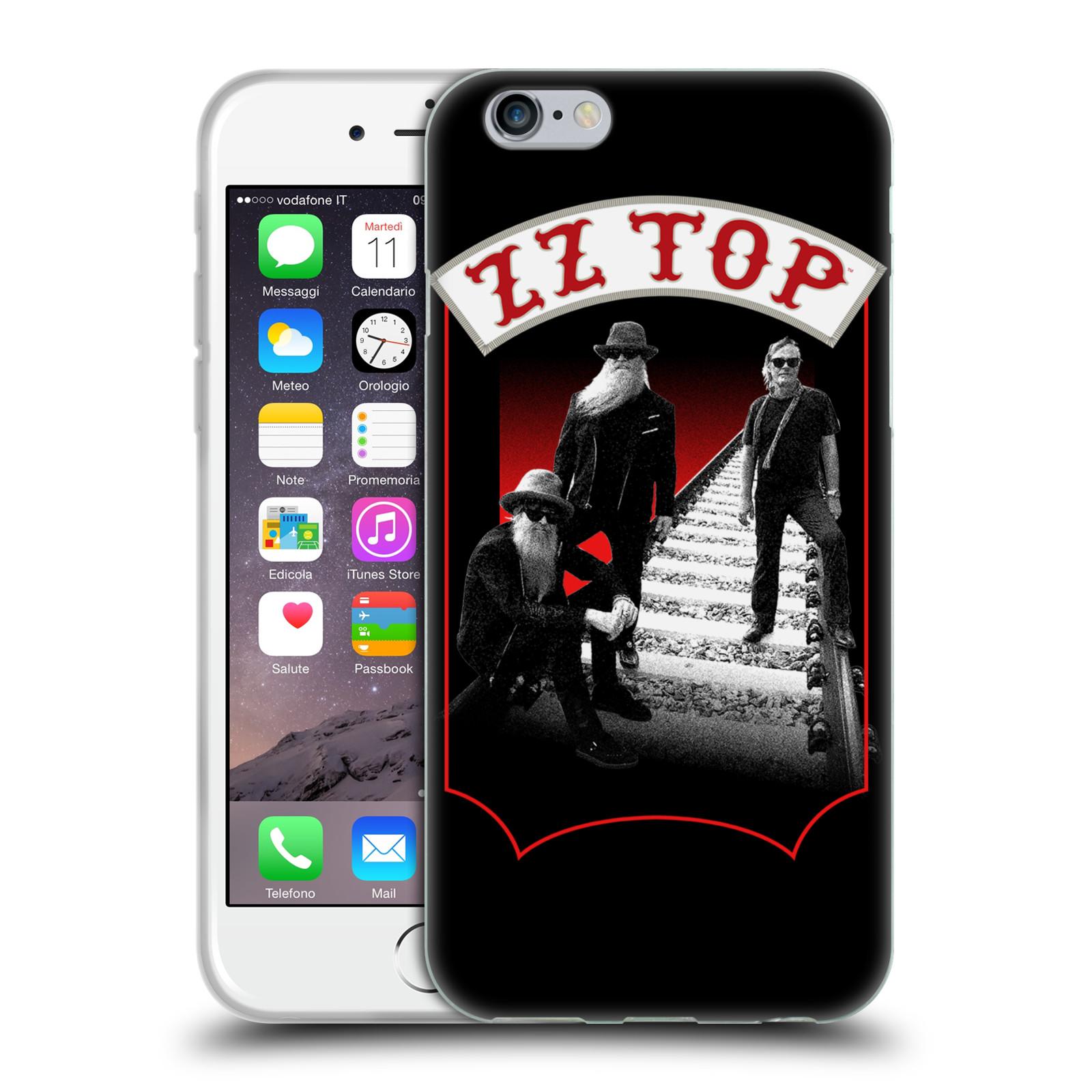 HEAD CASE silikonový obal na mobil Apple Iphone 6/6S ZZ Top koleje zpěváci