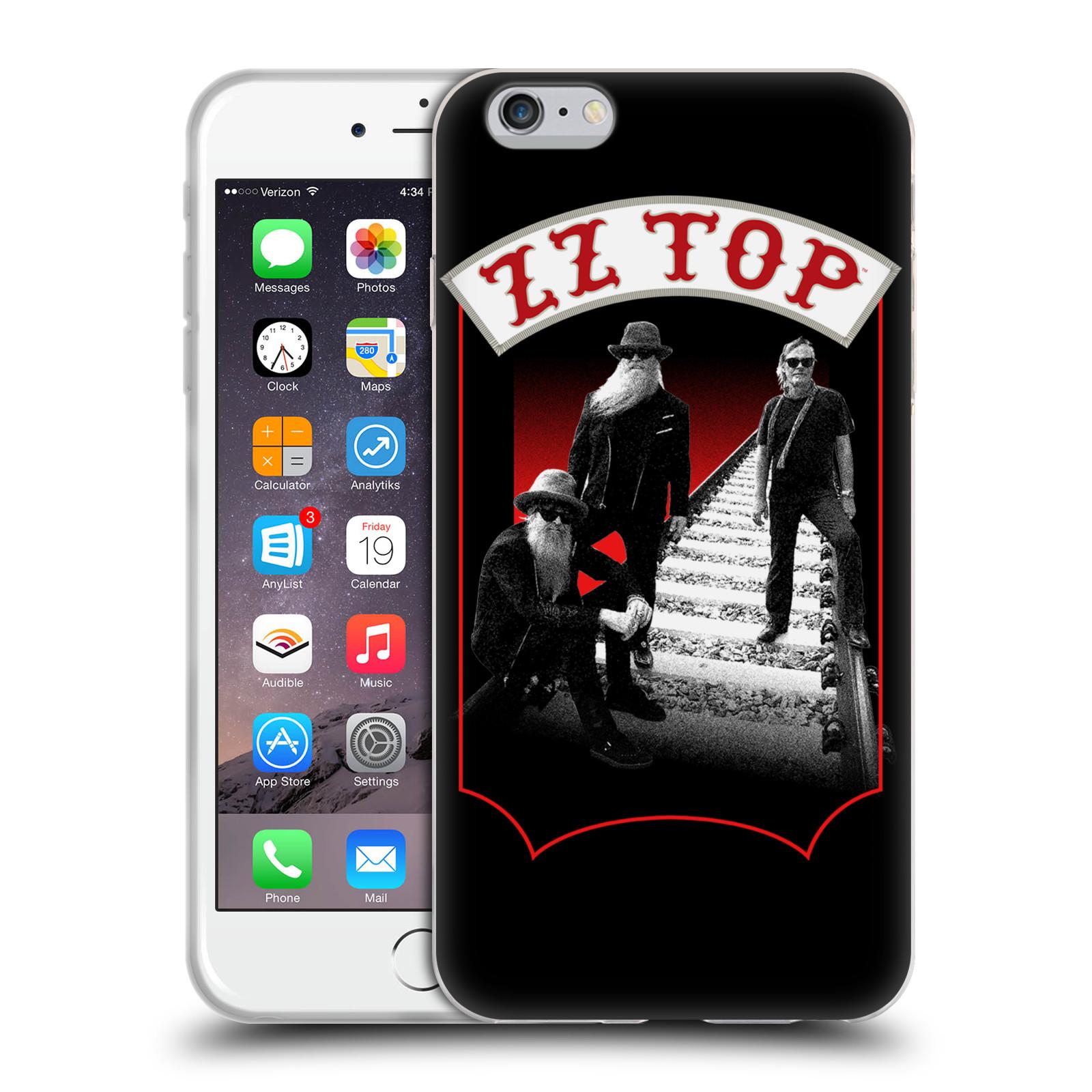 HEAD CASE silikonový obal na mobil Apple Iphone 6/6S PLUS ZZ Top koleje zpěváci