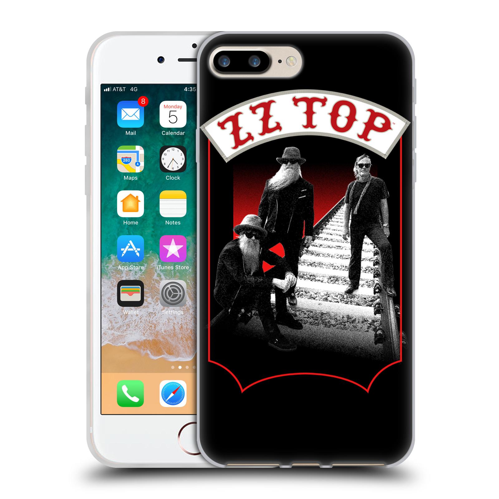 HEAD CASE silikonový obal na mobil Apple Iphone 7 PLUS ZZ Top koleje zpěváci