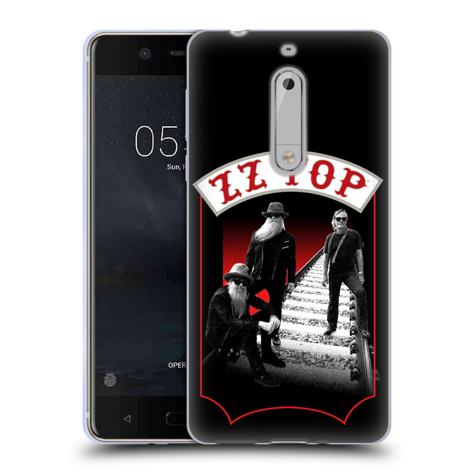 HEAD CASE silikonový obal na mobil Nokia 5 ZZ Top koleje zpěváci