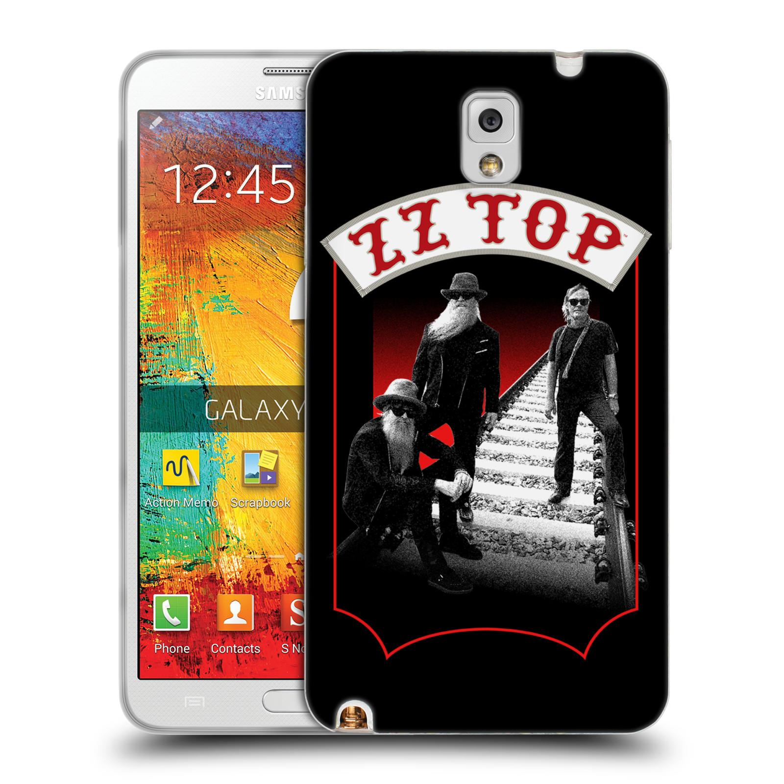 HEAD CASE silikonový obal na mobil Samsung Galaxy Note 3 ZZ Top koleje zpěváci