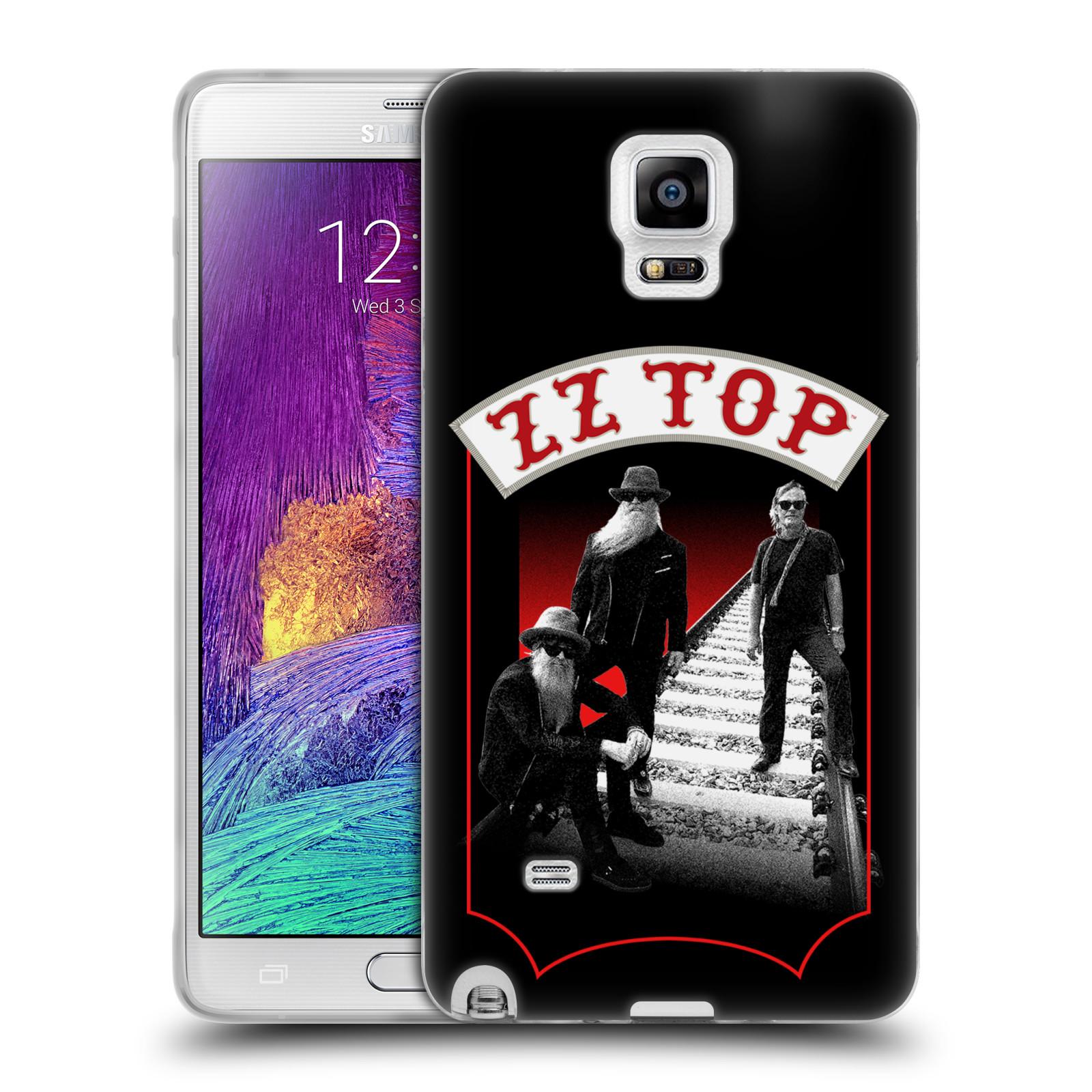 HEAD CASE silikonový obal na mobil Samsung Galaxy Note 4 ZZ Top koleje zpěváci