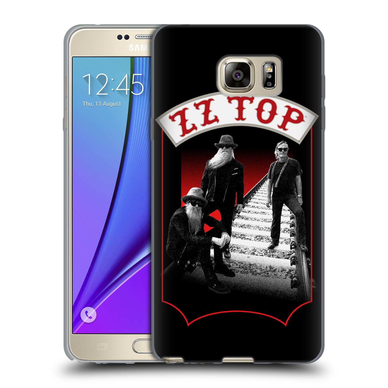 HEAD CASE silikonový obal na mobil Samsung Galaxy Note 5 ZZ Top koleje zpěváci
