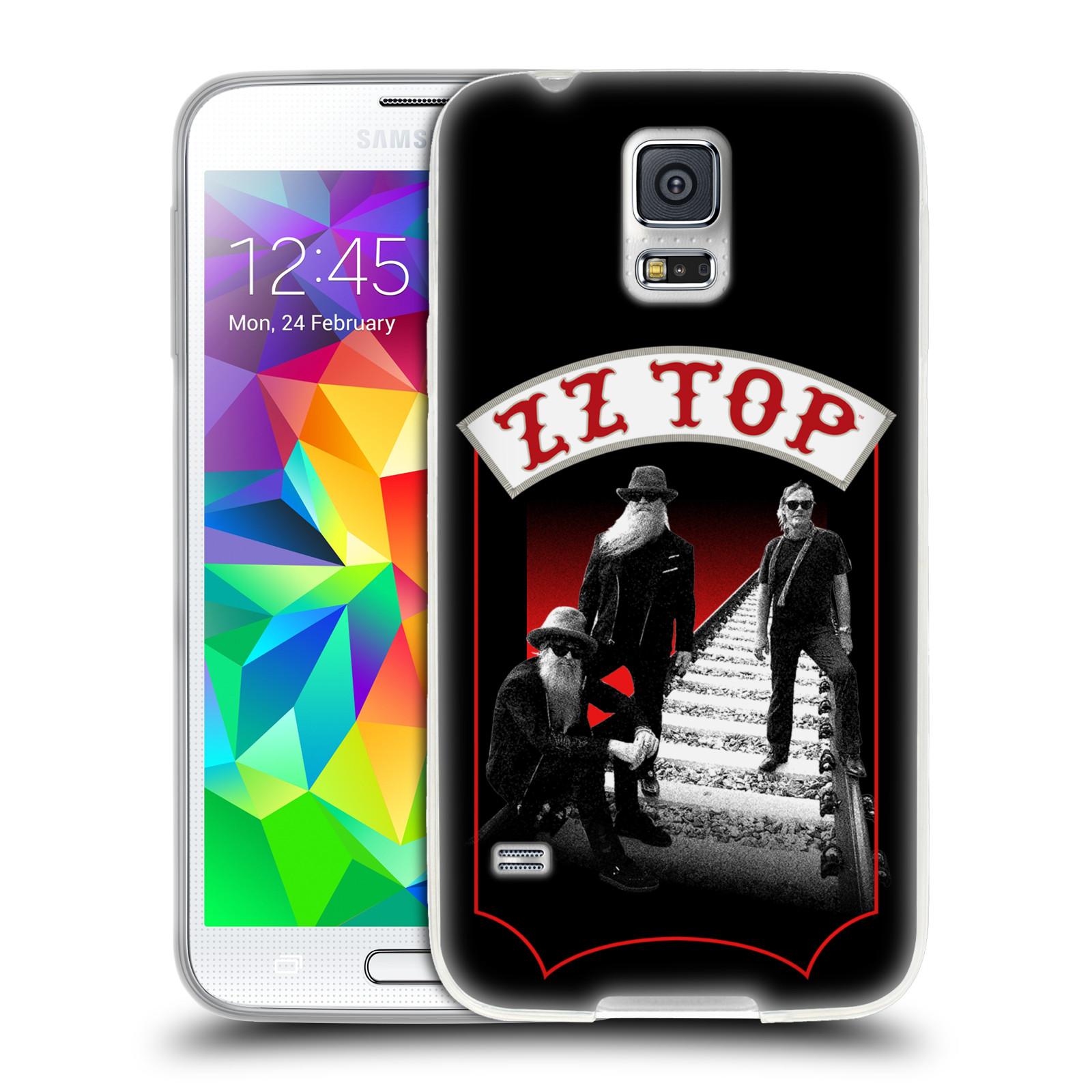 HEAD CASE silikonový obal na mobil Samsung Galaxy S5 ZZ Top koleje zpěváci