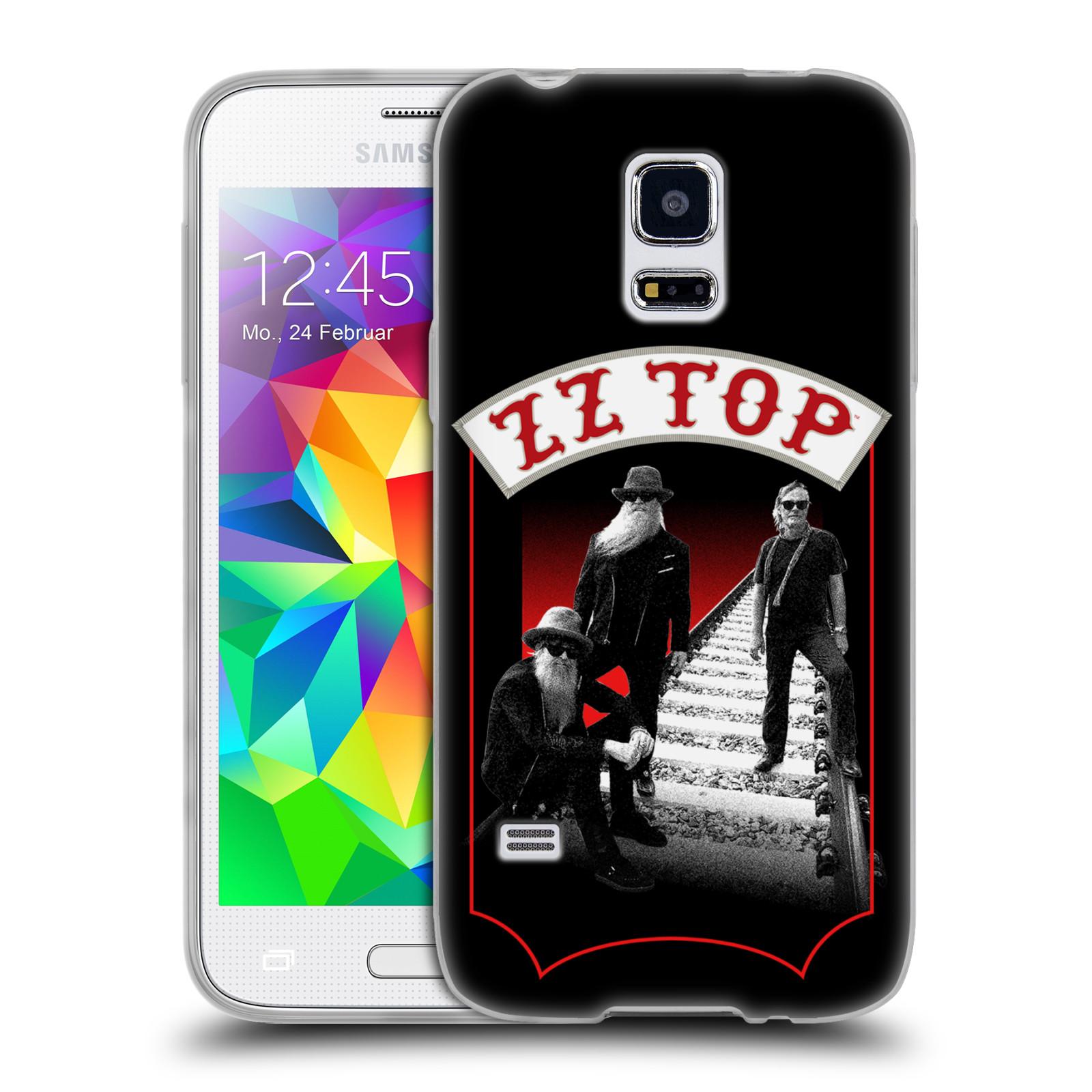 HEAD CASE silikonový obal na mobil Samsung Galaxy S5 MINI ZZ Top koleje zpěváci