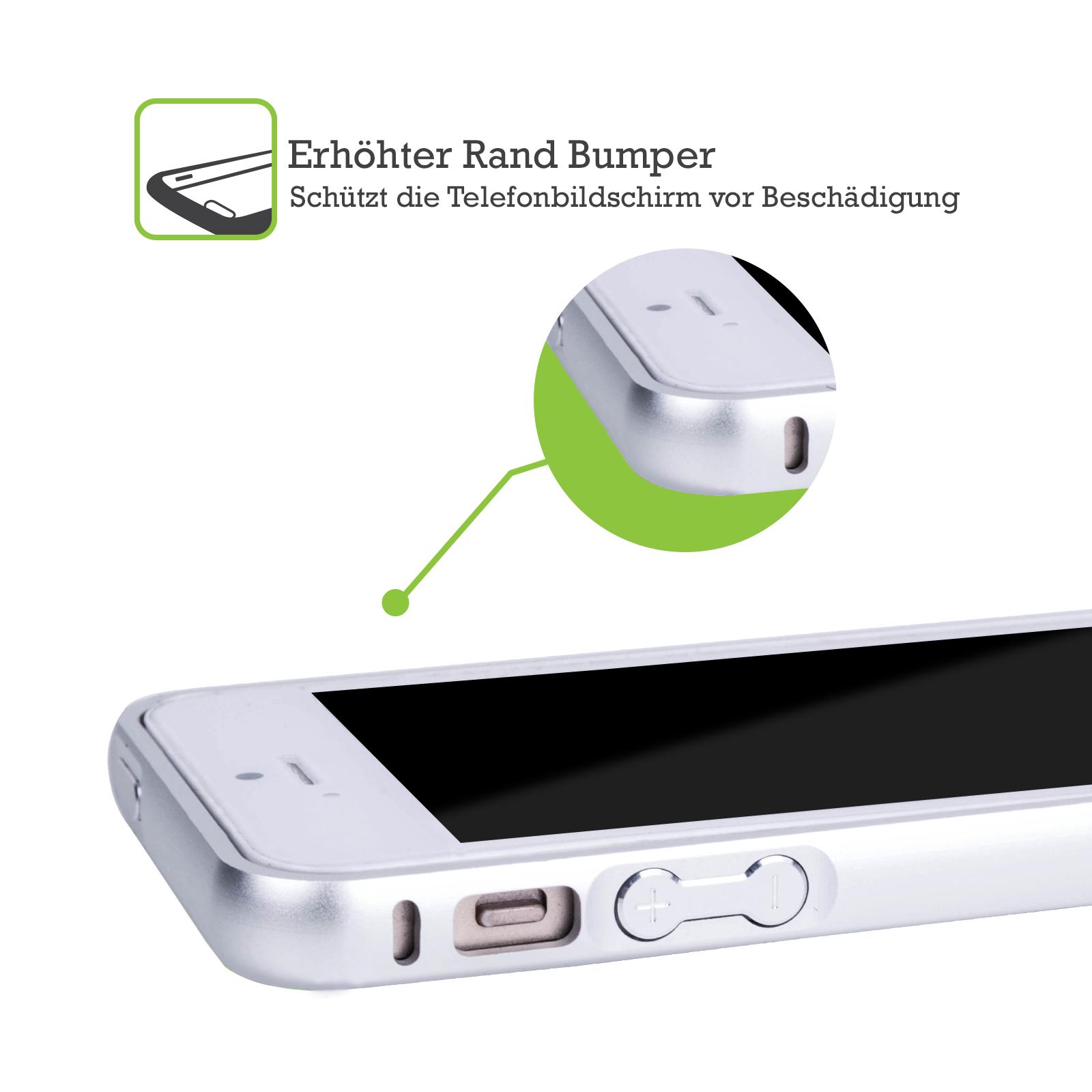 HEAD-CASE-DESIGNS-LIPPE-MUSTER-SILBER-RAHMEN-HULLE-FUR-APPLE-iPHONE-HANDYS