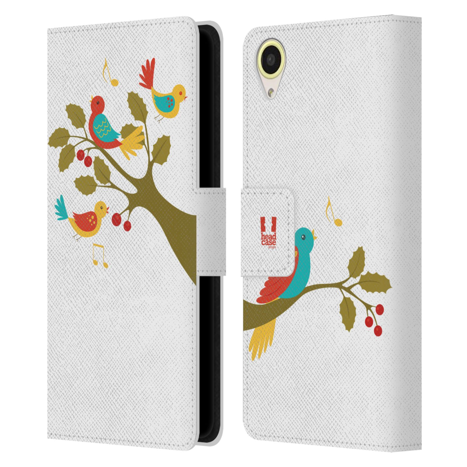 HEAD-CASE-DESIGNS-12-DAYS-OF-CHRISTMAS-LEATHER-BOOK-CASE-FOR-HTC-DESIRE-650
