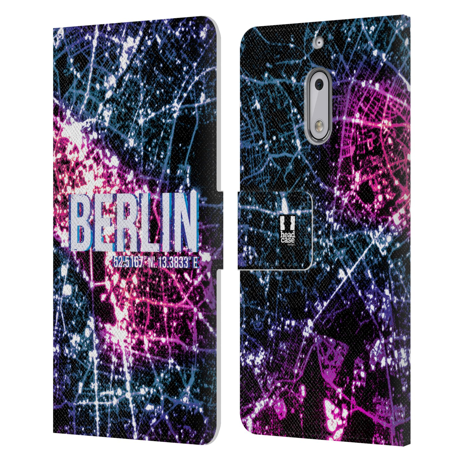 HEAD-CASE-DESIGNS-CITY-LIGHTS-LEATHER-BOOK-WALLET-CASE-COVER-FOR-NOKIA-6