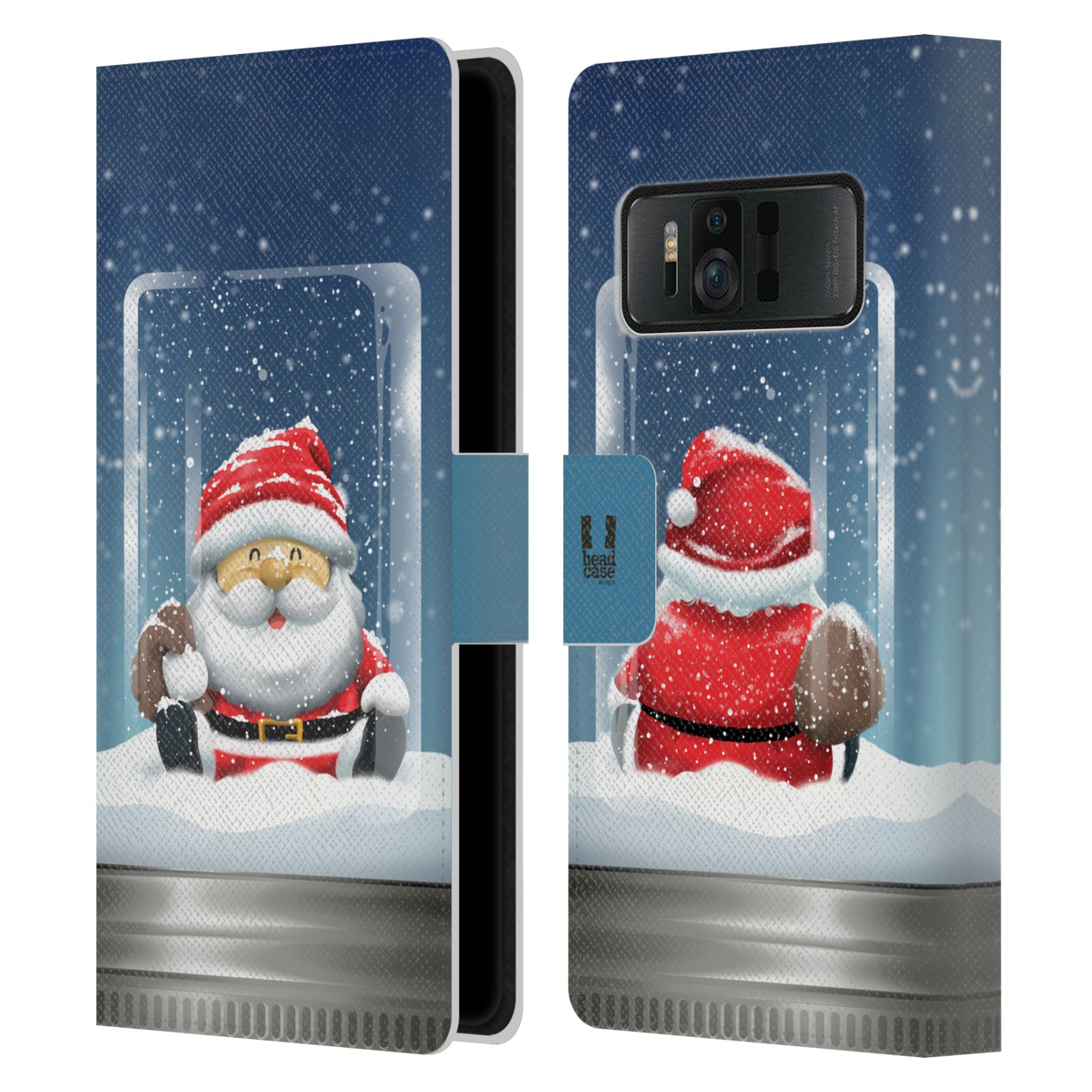 HEAD-CASE-CHRISTMAS-IN-JARS-LEATHER-BOOK-WALLET-CASE-FOR-ASUS-ZENFONE-AR-ZS571KL