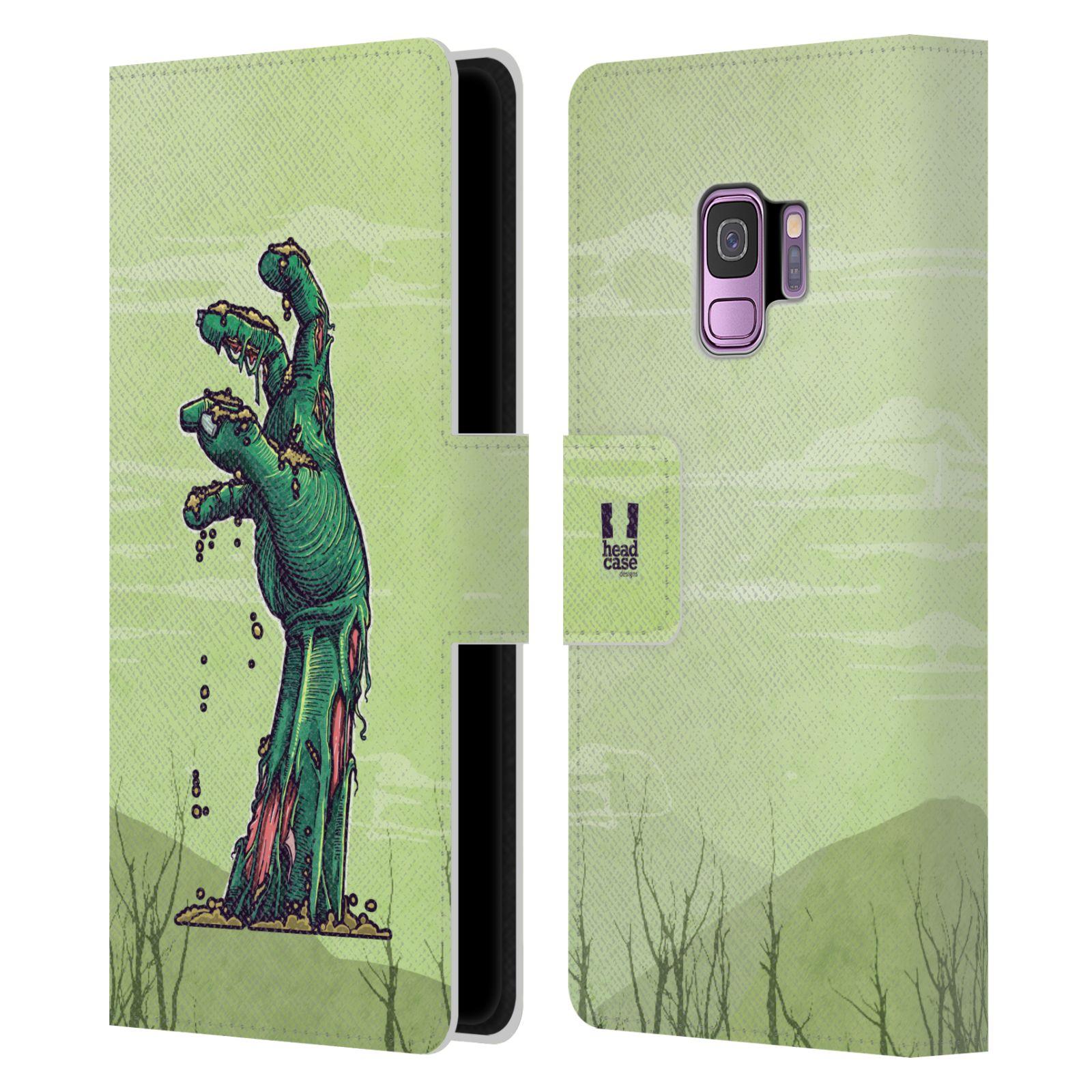 Libro-De-Cuero-Carcasa-Disenos-Zombies-HEAD-Billetera-Estuche-Cubierta-para-Telefonos-SAMSUNG-1