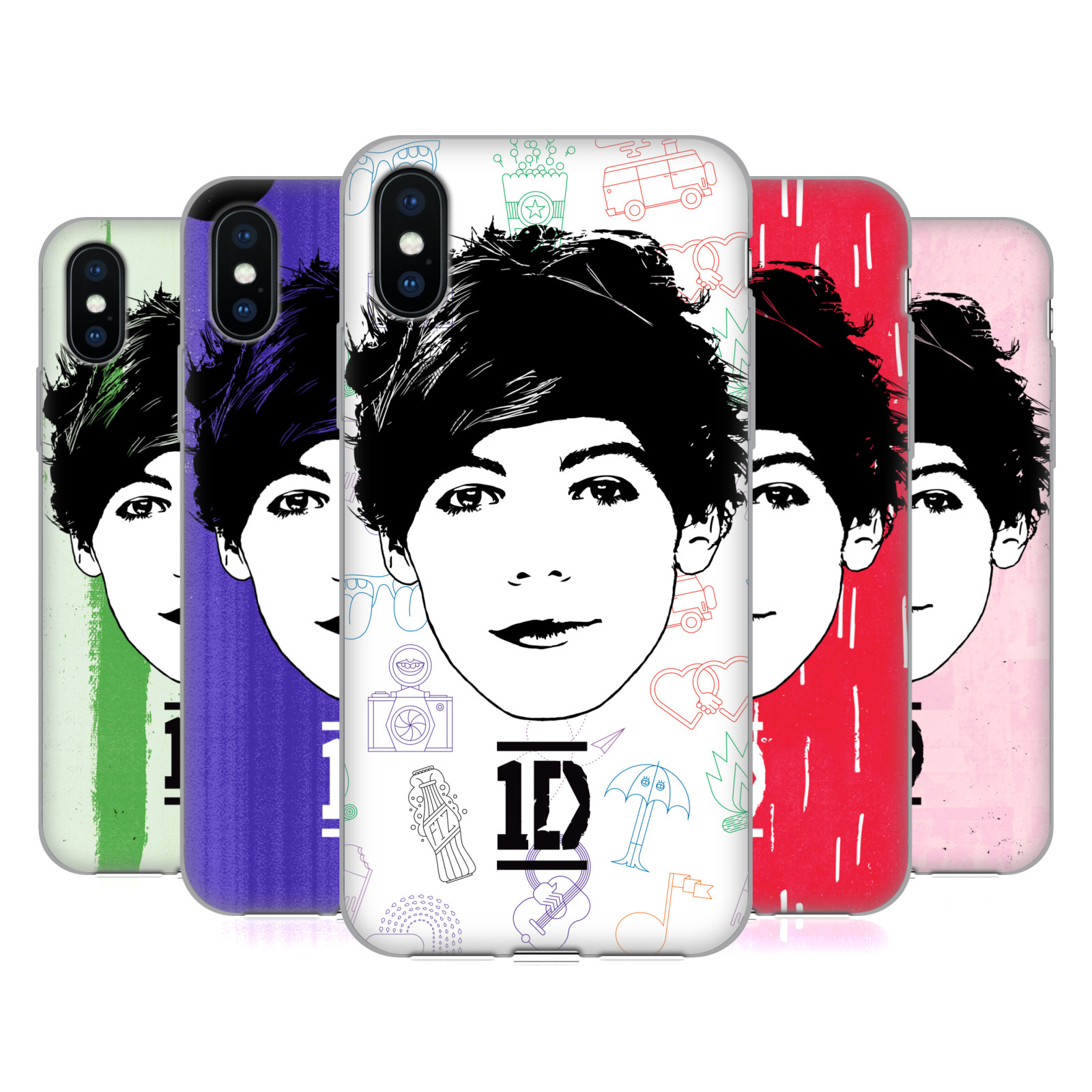 One Direction Graphic Face Louis
