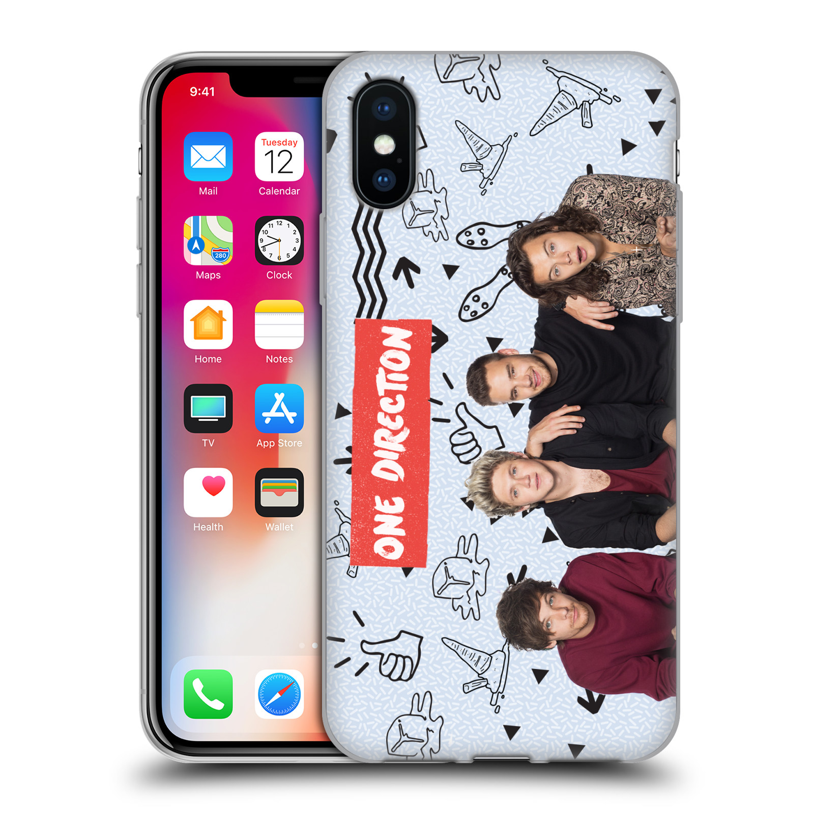OFFICIAL-ONE-DIRECTION-GROUP-PHOTO-DOODLE-ICON-GEL-CASE-FOR-APPLE-iPHONE-PHONES