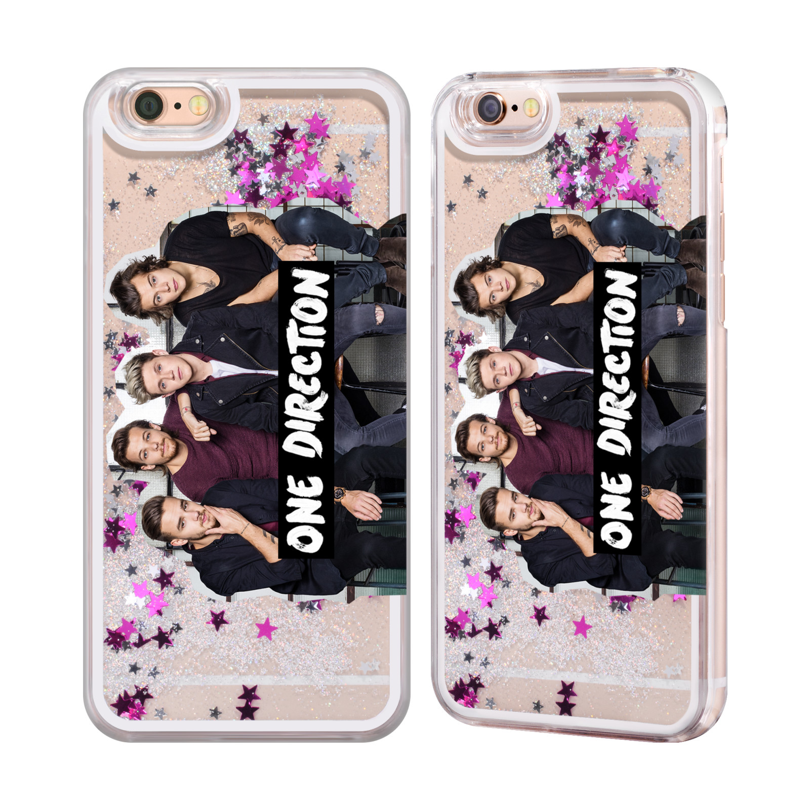 one direction group photo liquid glitter case for apple