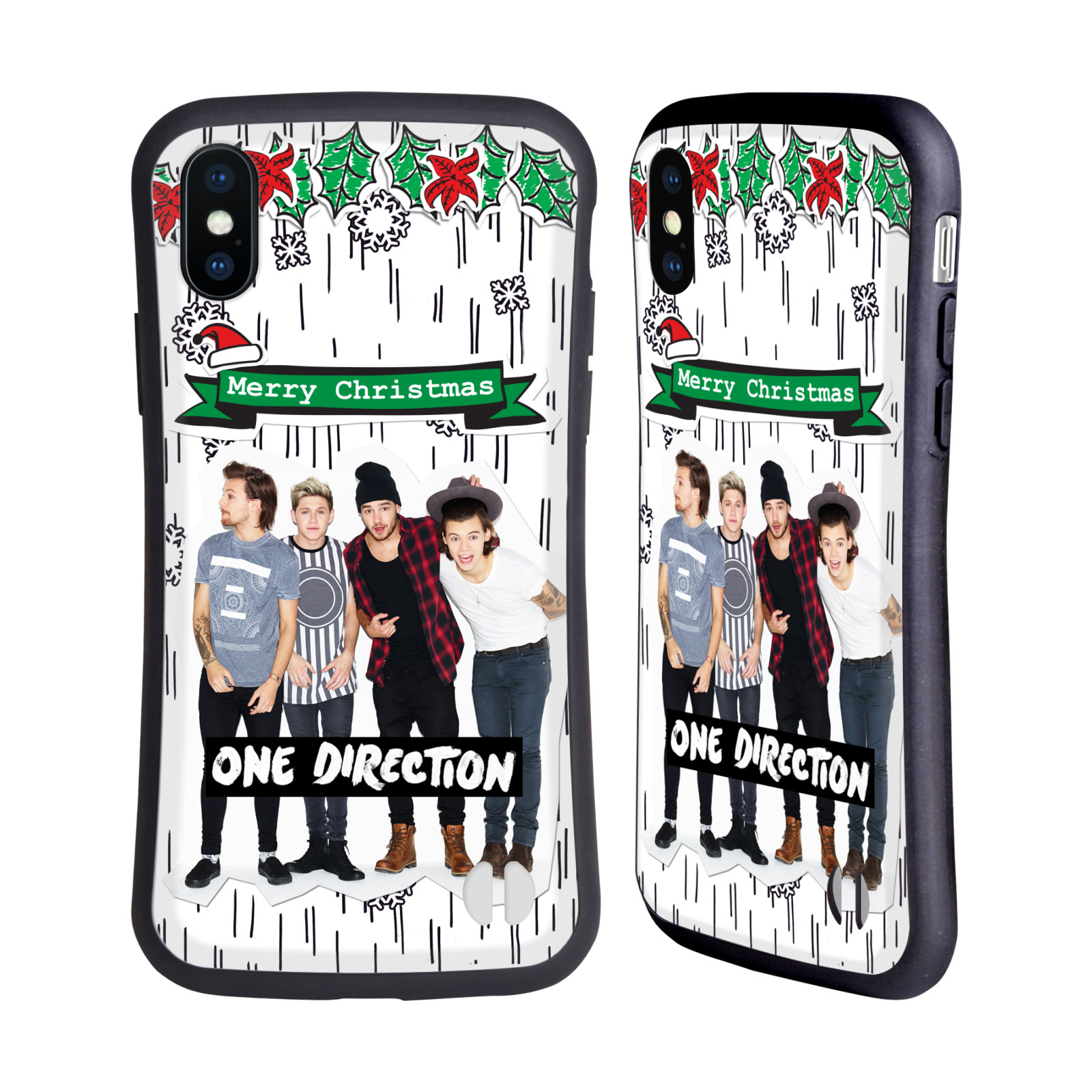 ONE DIRECTION 1D PHOTO DOODLE CHRISTMAS HYBRID CASE FOR APPLE ...