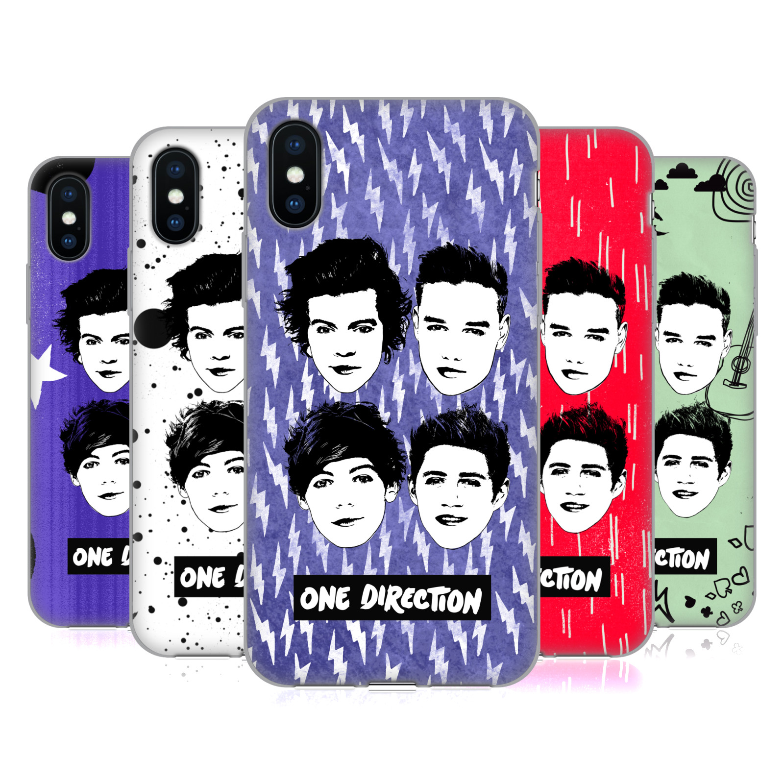 One Direction Group Graphic Faces