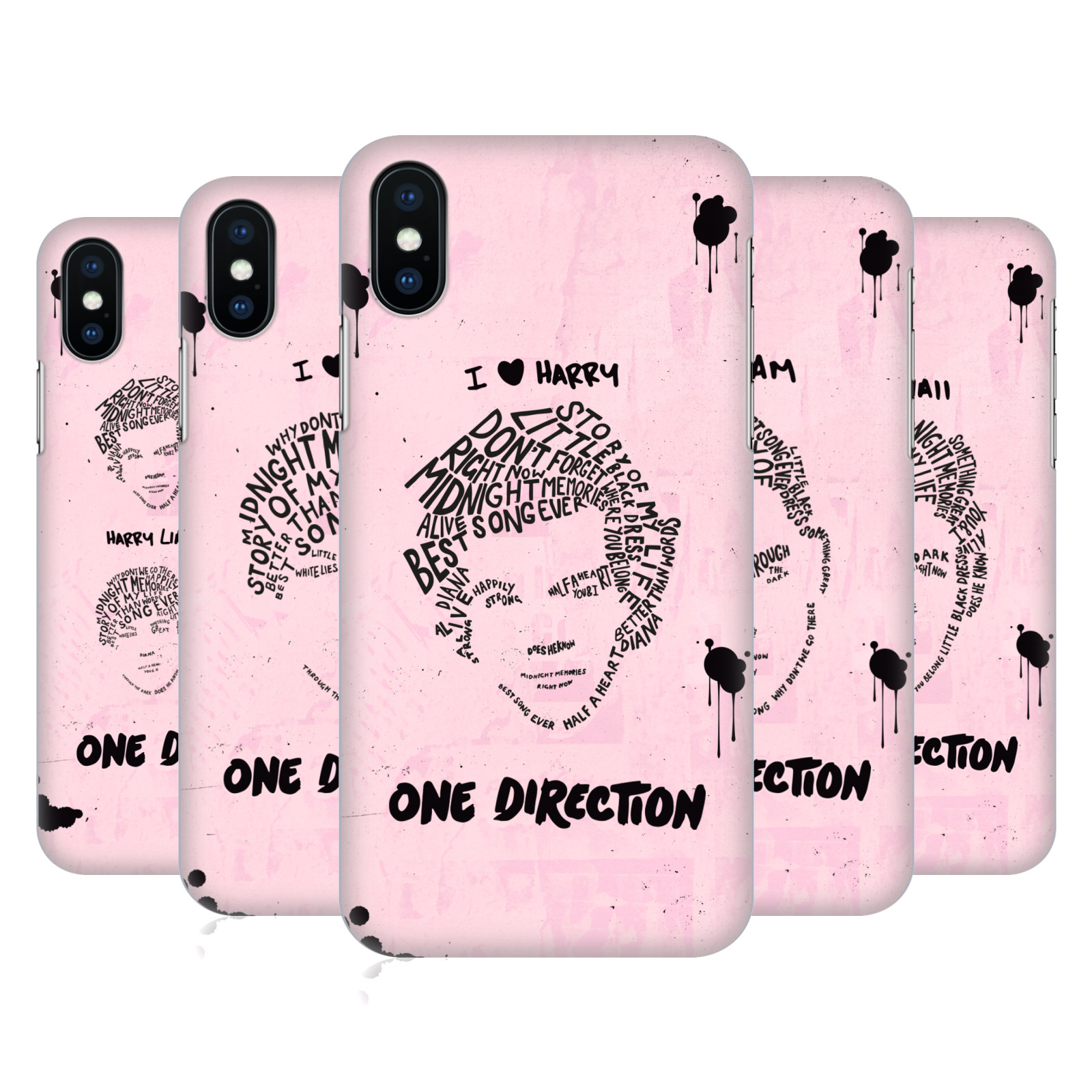 One Direction Text Illustration Faces