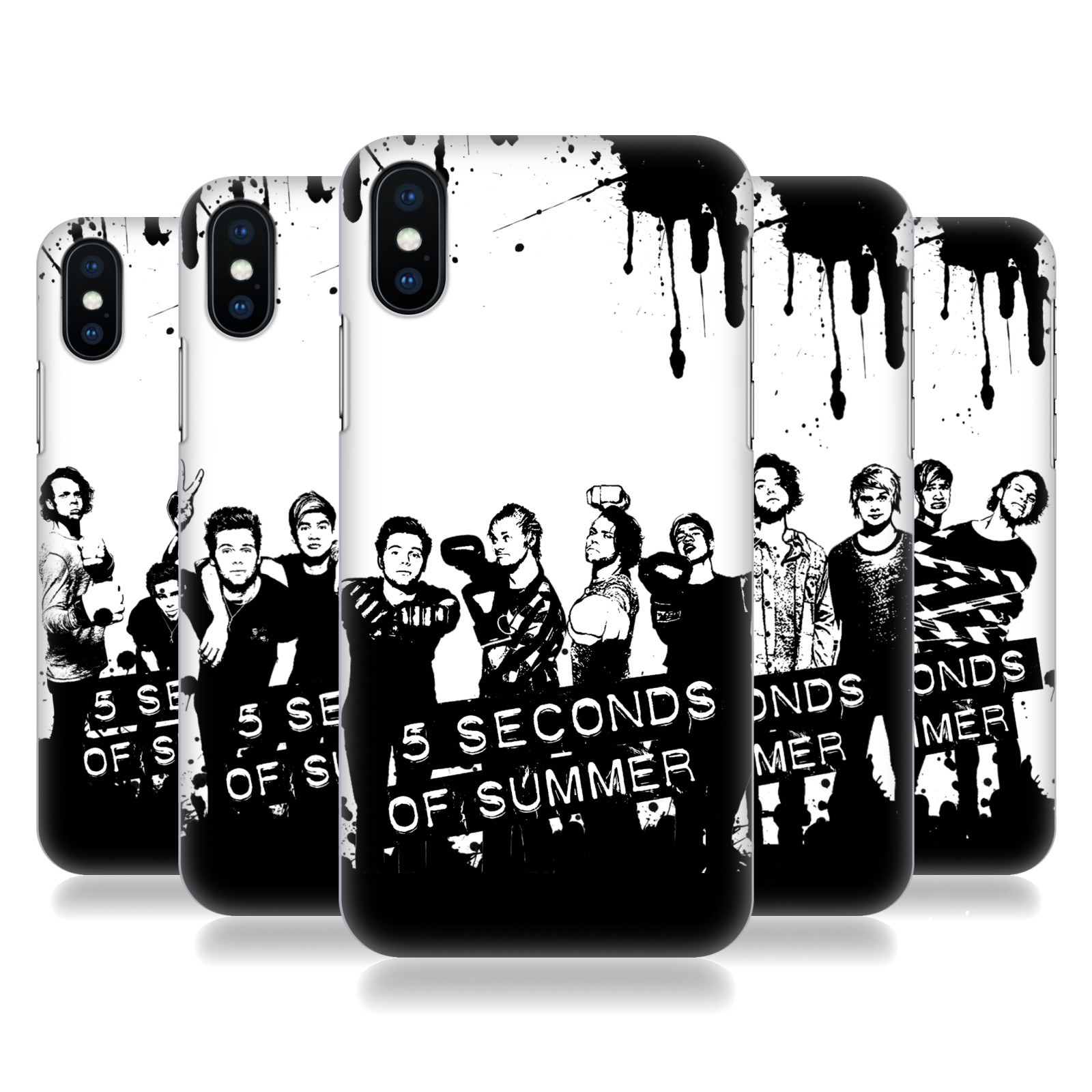 5 Seconds of Summer Group Photo Splatter Art
