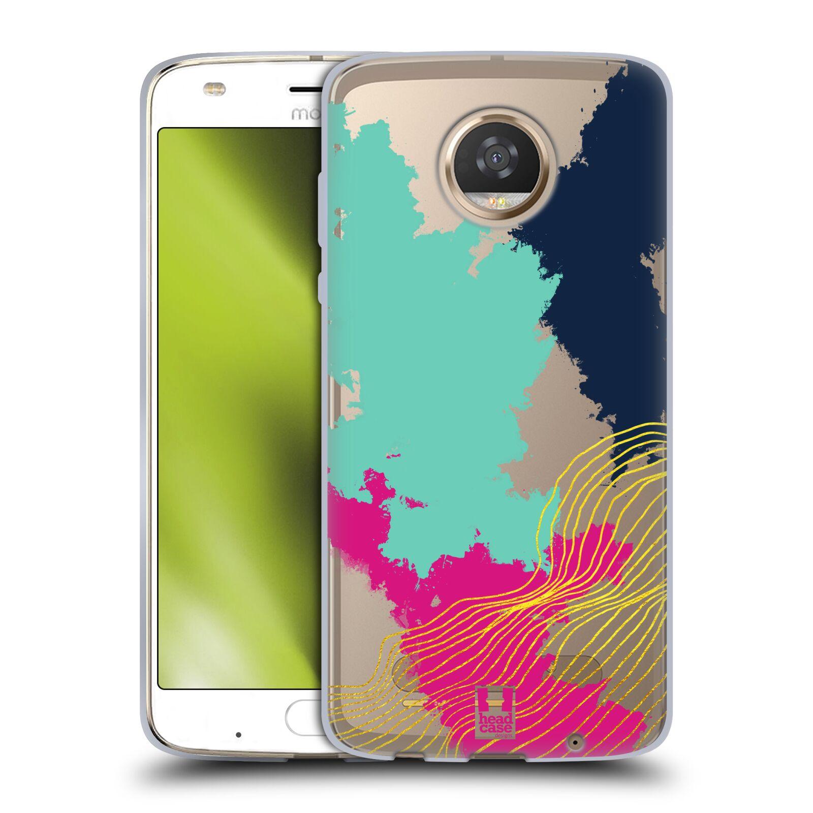 Funda-HEAD-CASE-DESIGNS-CON-Gel-Suave-trazos-abstractos-para-telefonos-Motorola