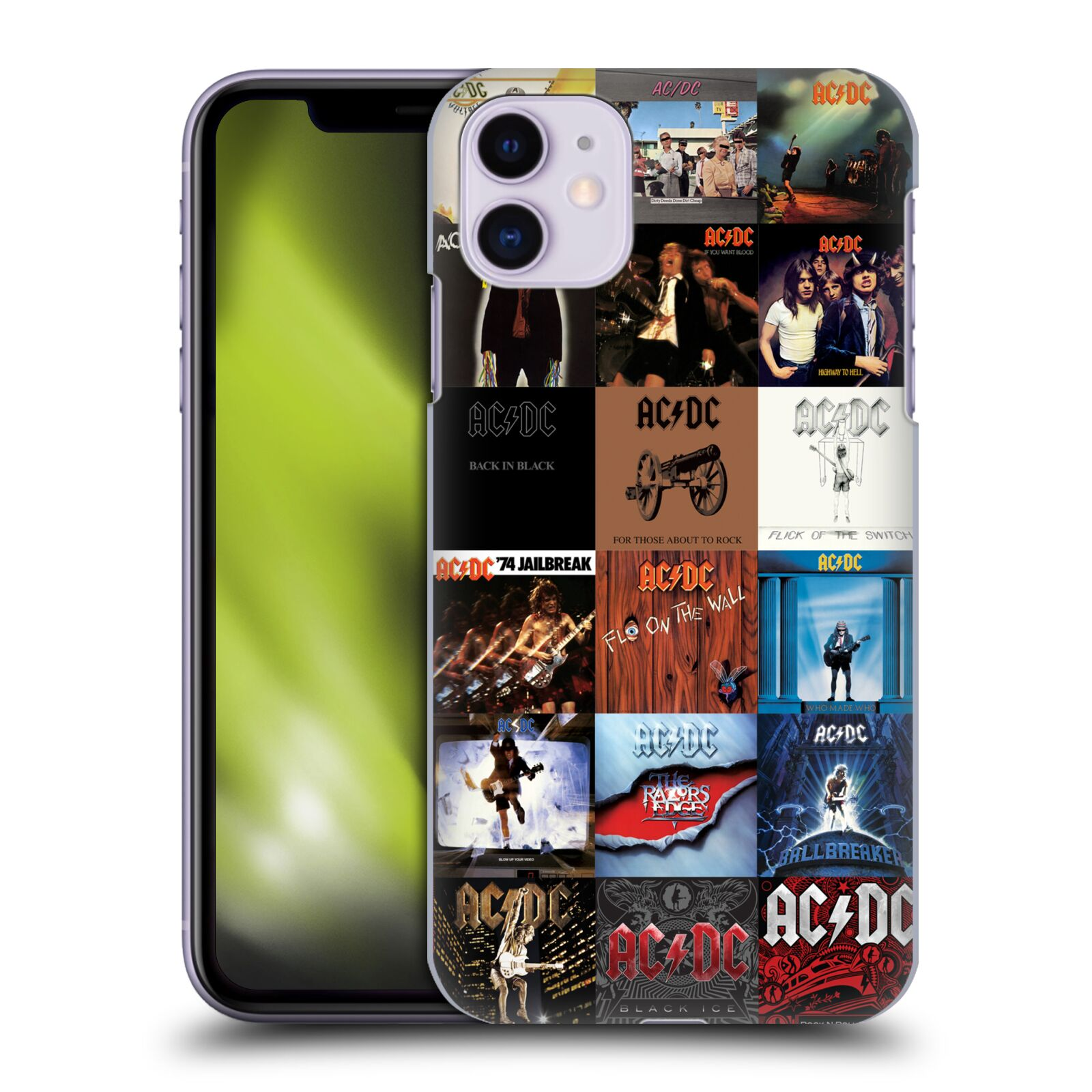 Official AC/DC ACDC Collage Album Covers Back Case for Apple iPhone 11