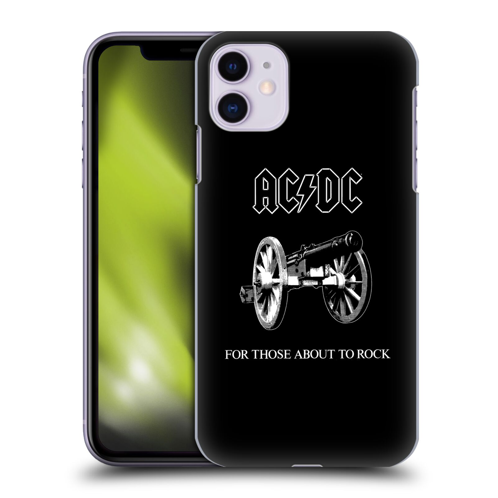 Official AC/DC ACDC Song Titles For Those About To Rock Back Case for Apple iPhone 11
