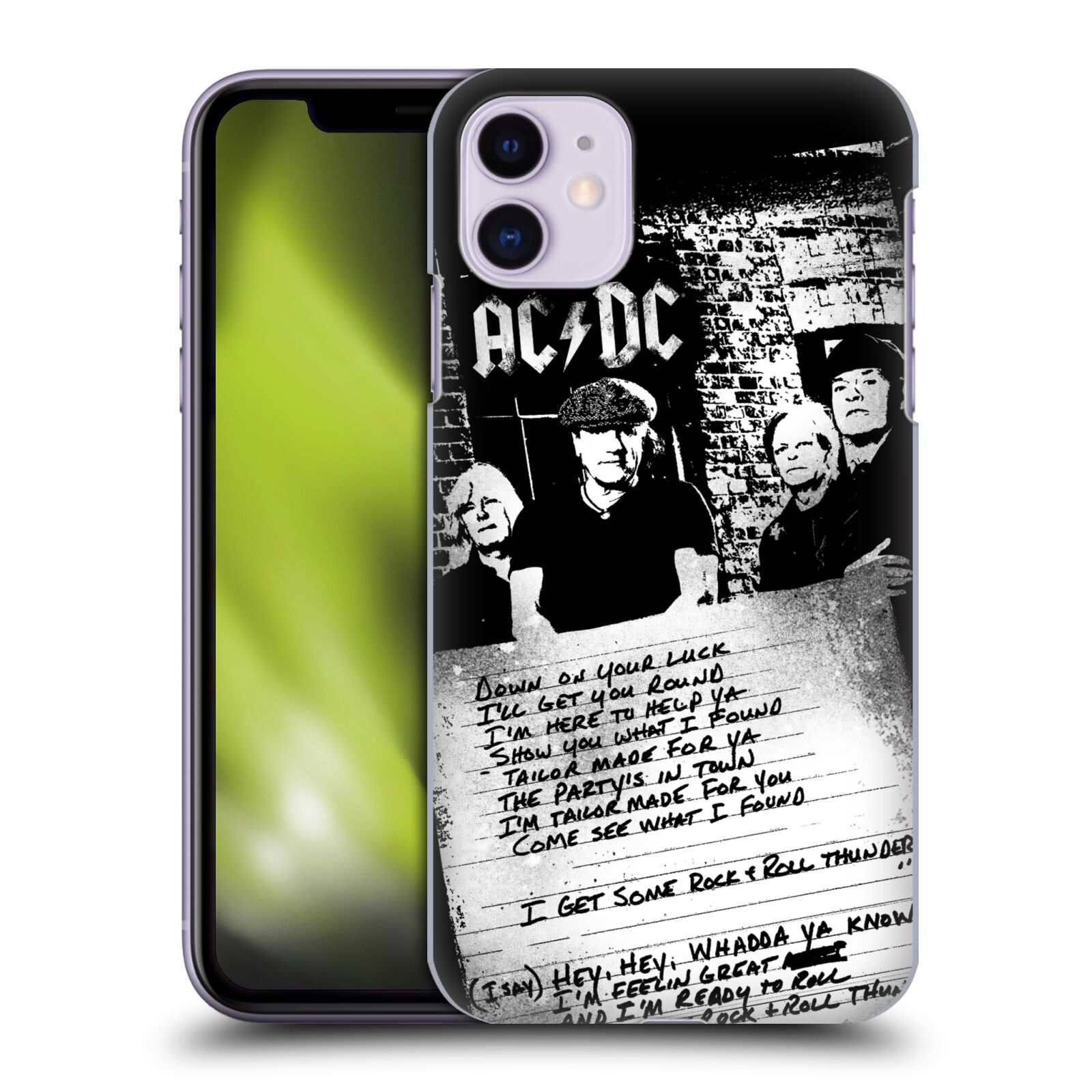Official AC/DC ACDC Lyrics Got Some Rock And Roll Thunder Back Case for Apple iPhone 11