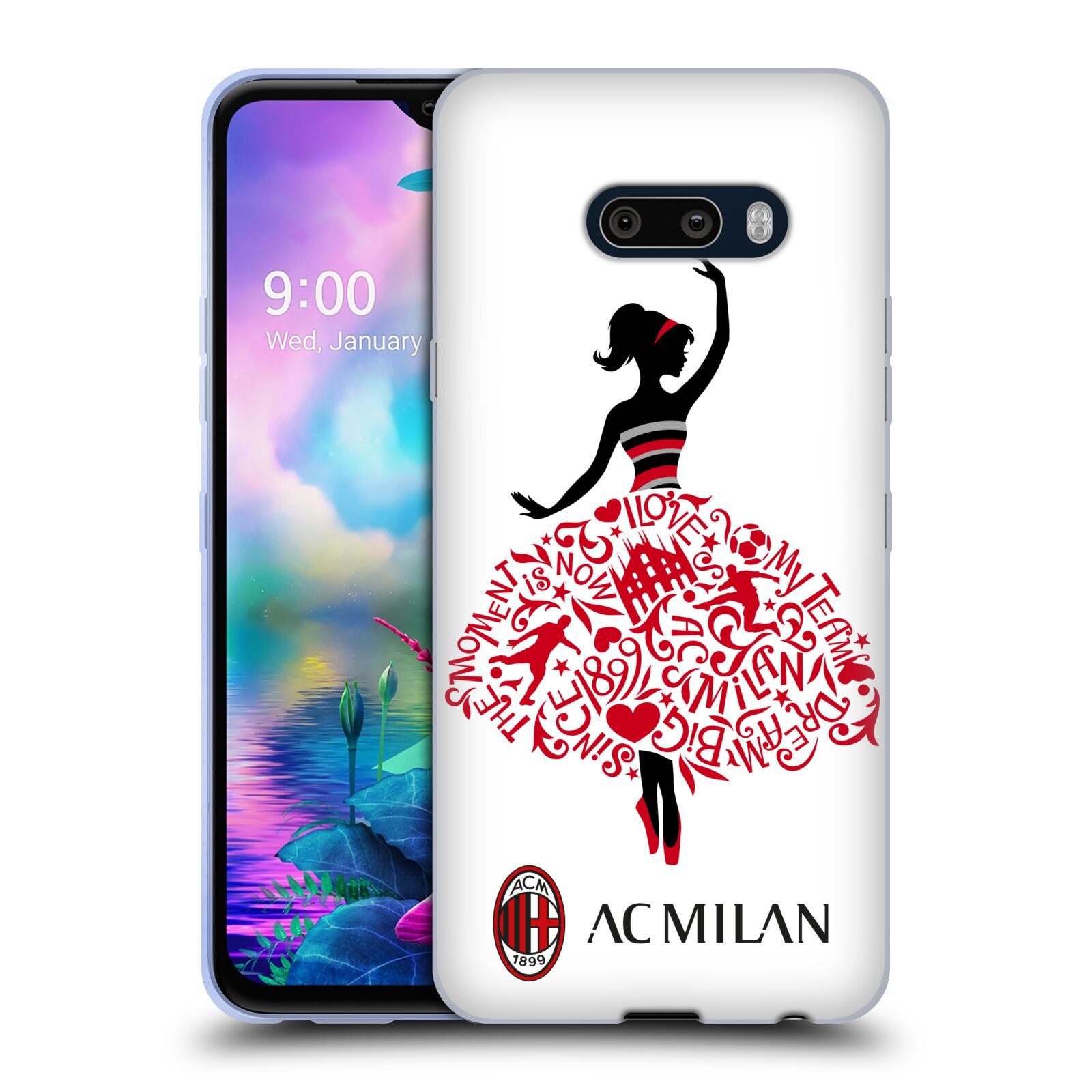 Official AC Milan 2018/19 Children Dream Big Gel Case for LG G8X ThinQ