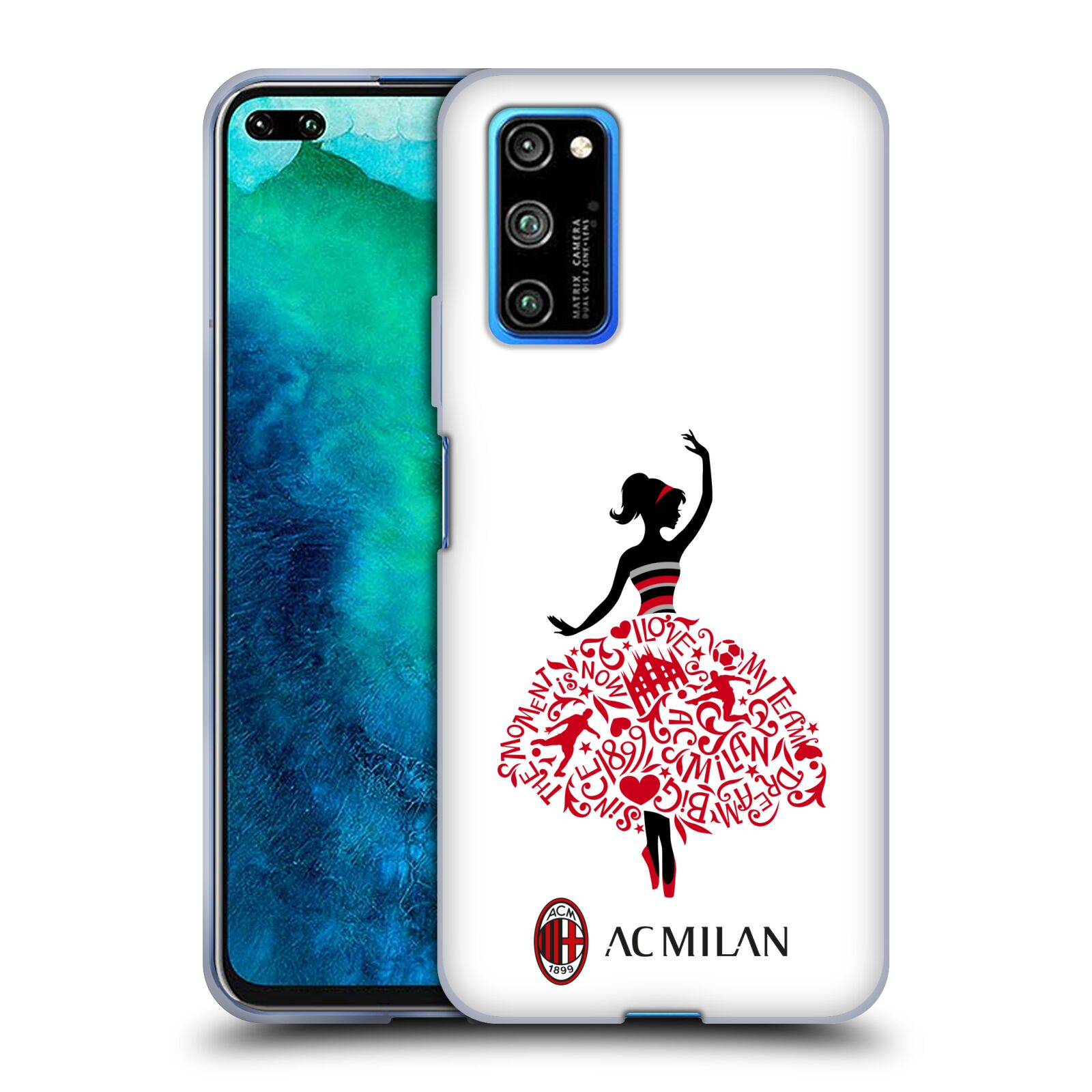 Official AC Milan 2018/19 Children Dream Big Gel Case for Huawei Honor V30 Pro / View 30 Pro