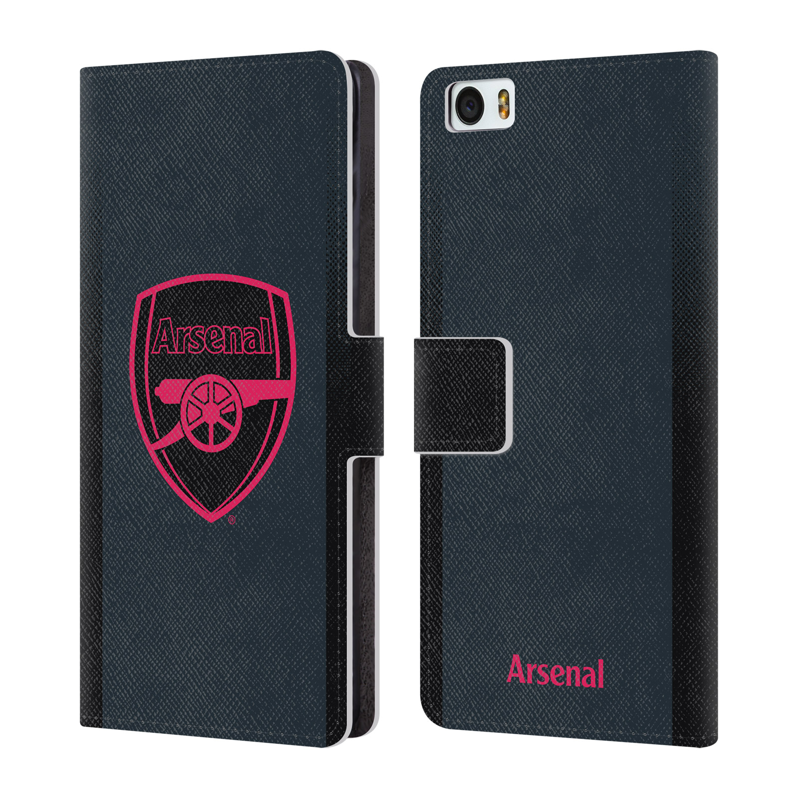 OFFICIAL-ARSENAL-FC-2017-18-CREST-KIT-LEATHER-BOOK-WALLET-CASE-FOR-XIAOMI-PHONES