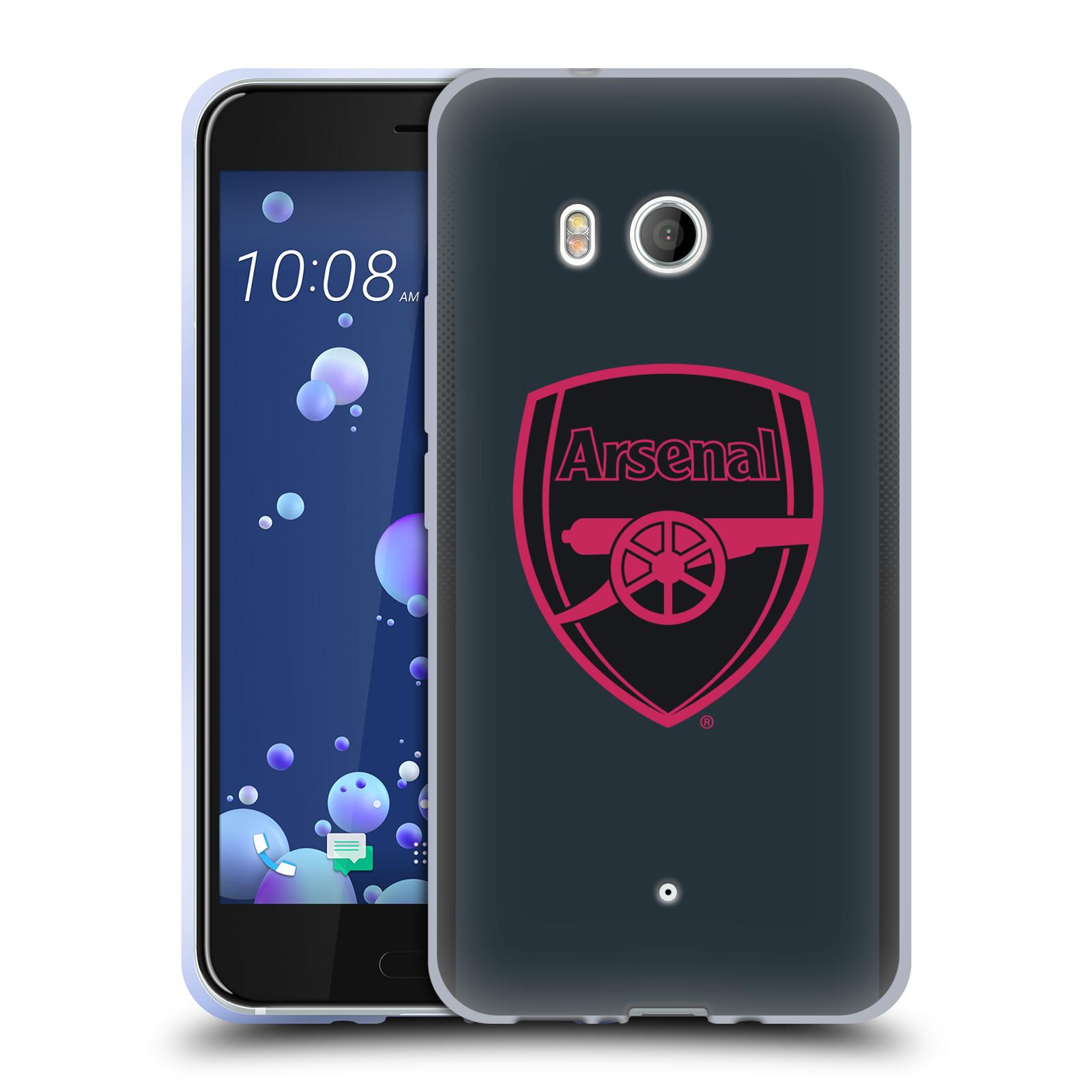 Kit-De-Escudo-Oficial-ARSENAL-FC-2017-18-caso-De-Gel-Suave-para-TELEFONOS-HTC-1