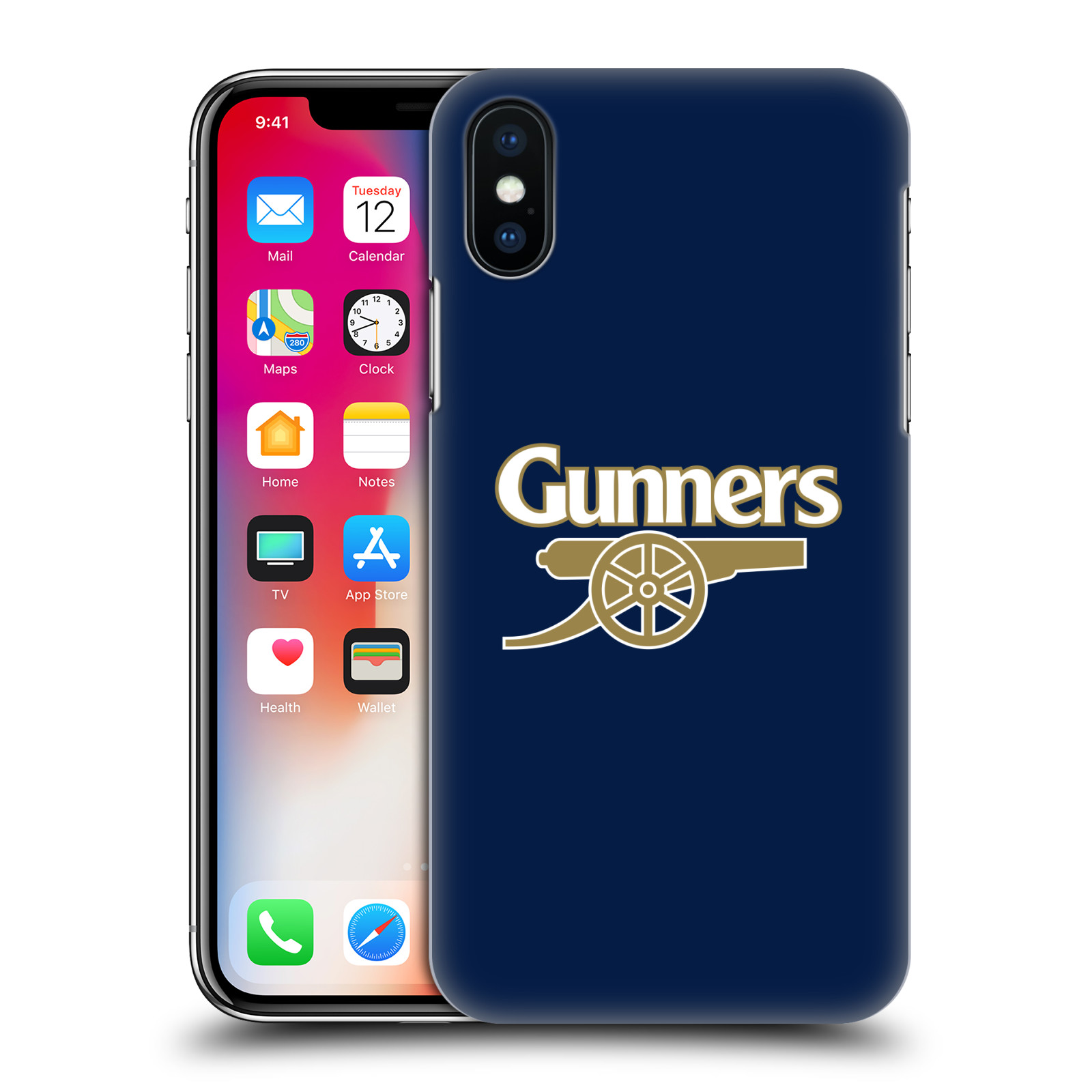 OFFICIAL-ARSENAL-FC-CREST-2-HARD-BACK-CASE-FOR-APPLE-iPHONE-PHONES miniatuur 12