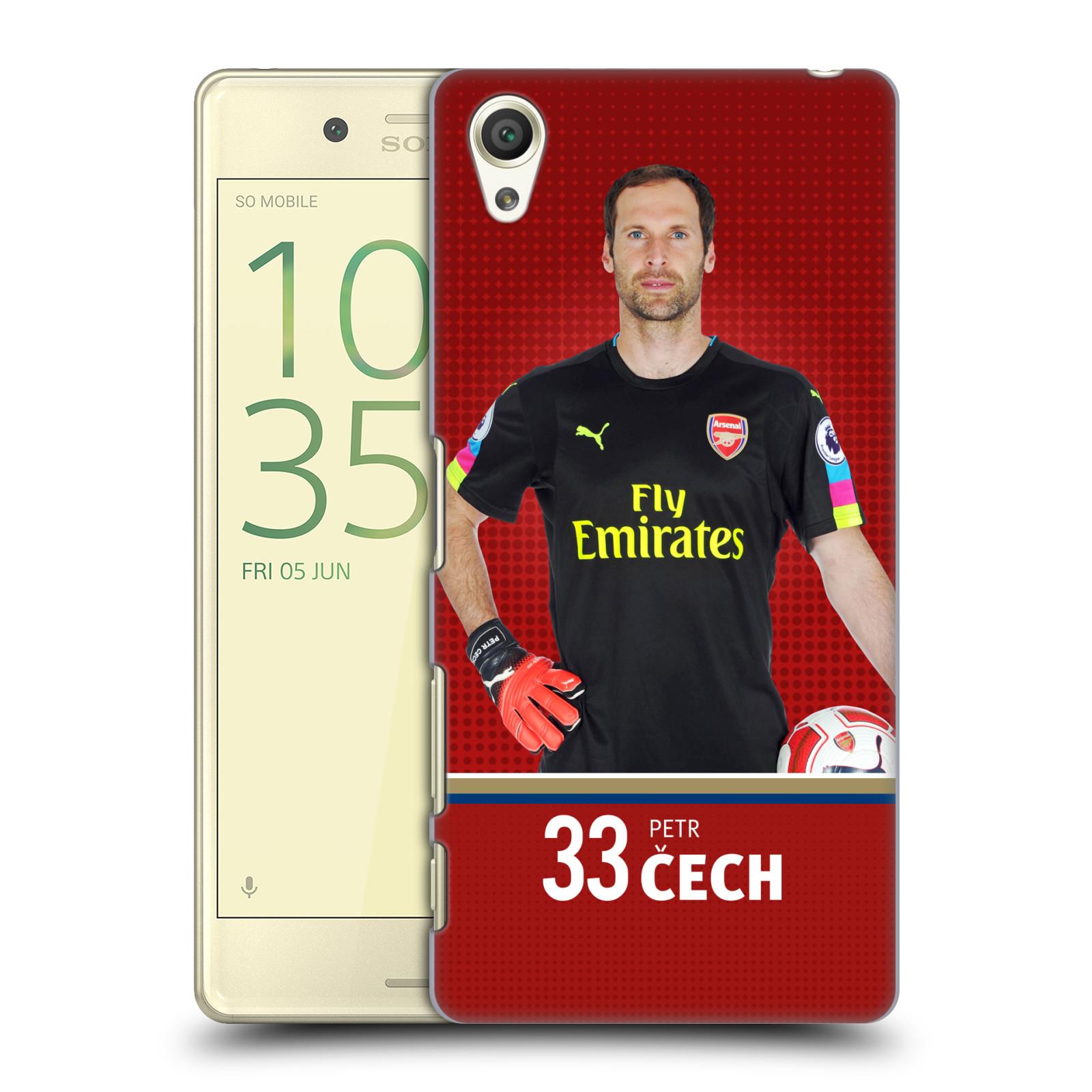 Plastové pouzdro na mobil Sony Xperia X - Head Case - Arsenal FC - Petr Čech