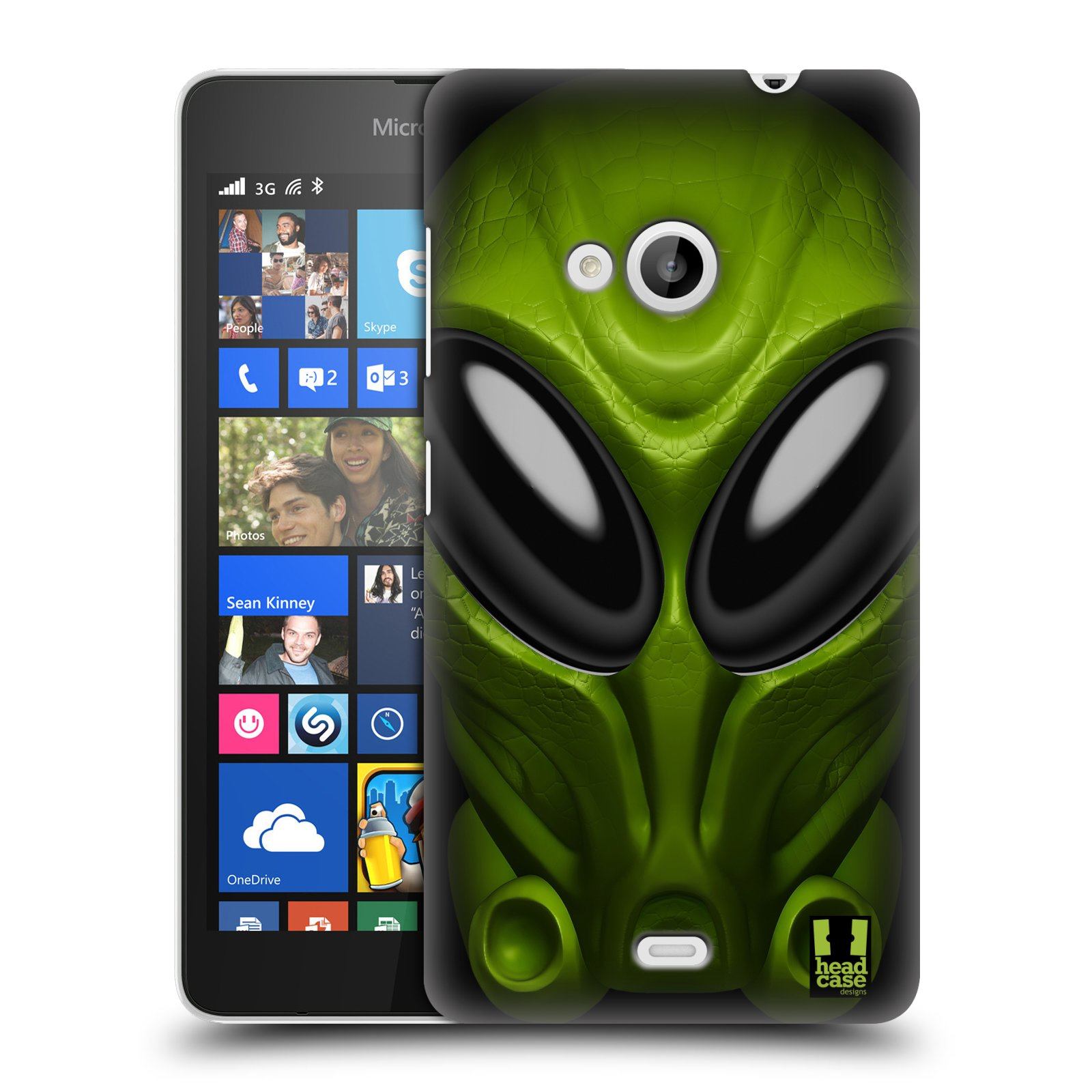 Plastové pouzdro na mobil Microsoft Lumia 535 - Head Case - Ufoun Mastermind