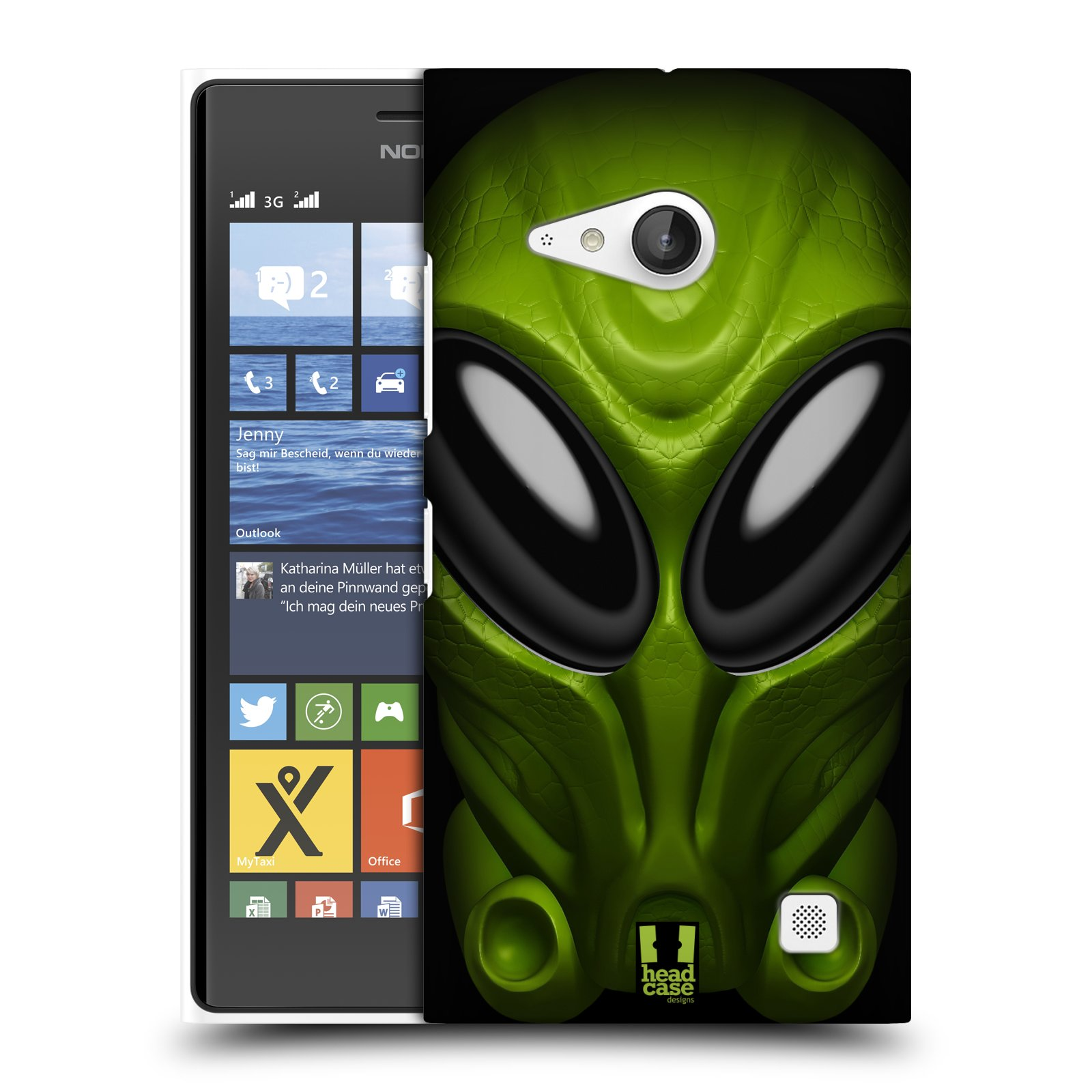 Plastové pouzdro na mobil Nokia Lumia 730 Dual SIM - Head Case - Ufoun Mastermind (Plastový kryt či obal na mobilní telefon s motivem Ufouna Masterminda pro Nokia Lumia 730 Dual SIM)
