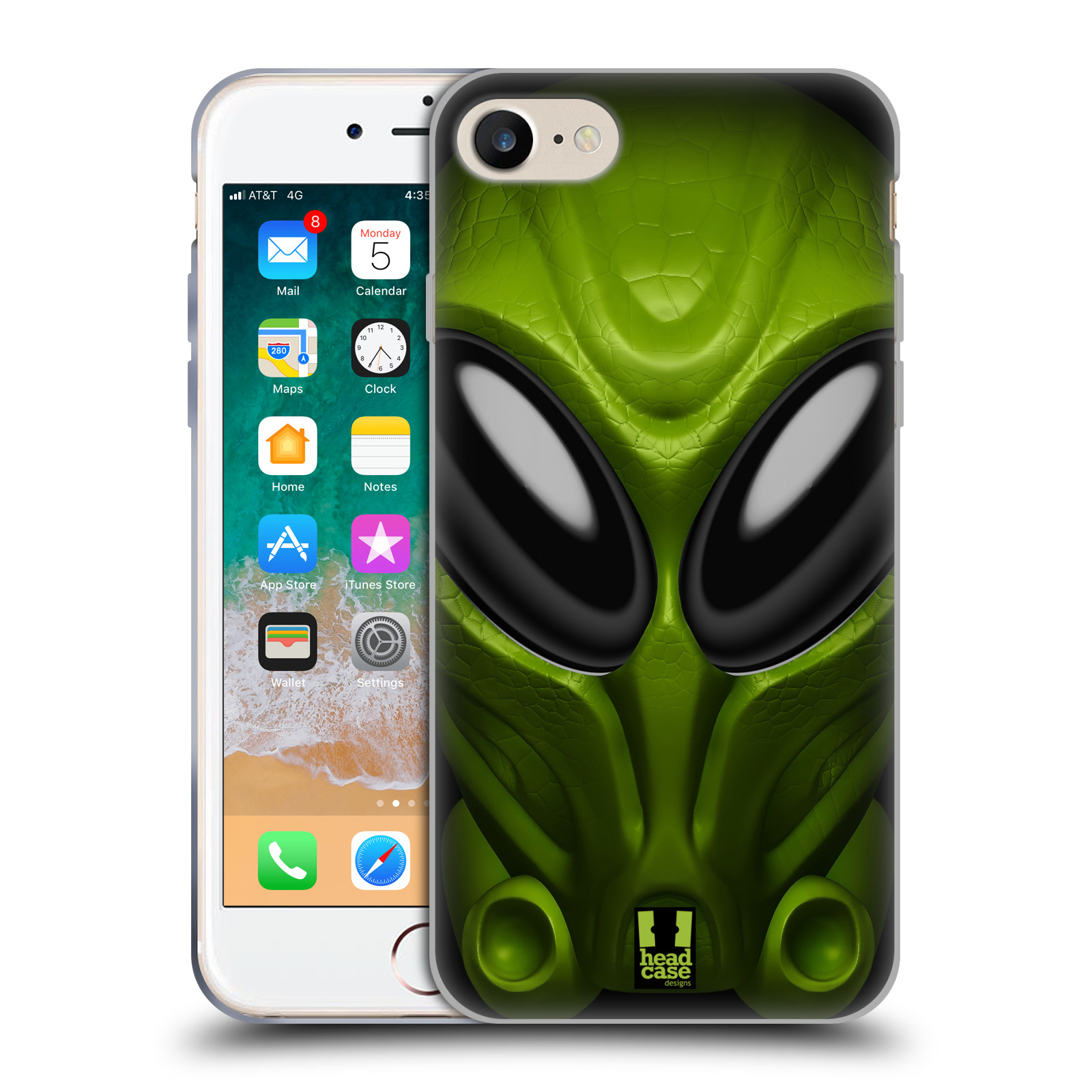 Silikonové pouzdro na mobil Apple iPhone 8 - Head Case - Ufoun Mastermind