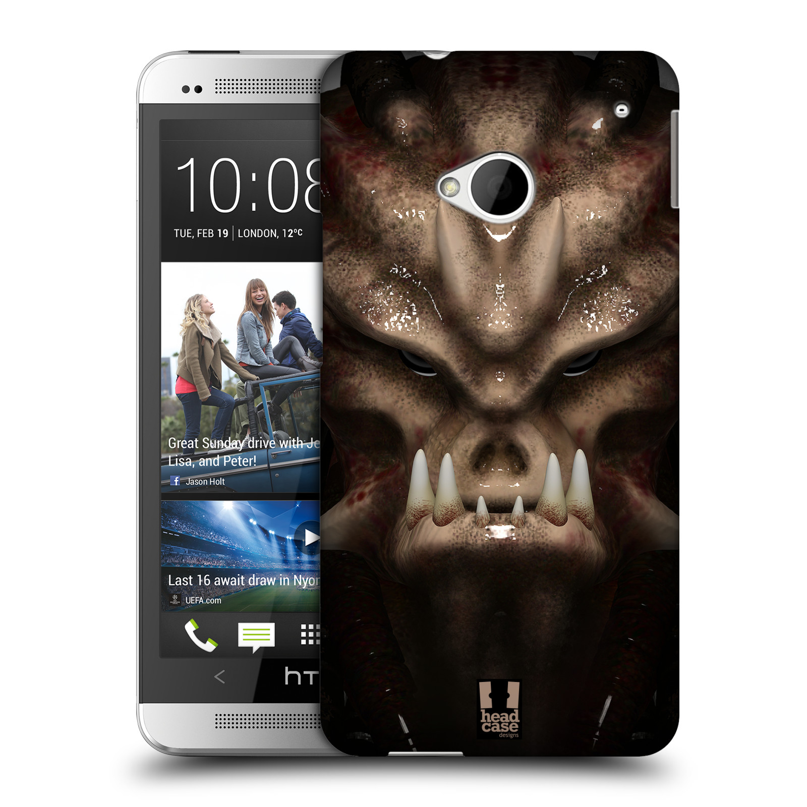 Plastové pouzdro na mobil HTC ONE M7 - Head Case - Ufoun Warhead