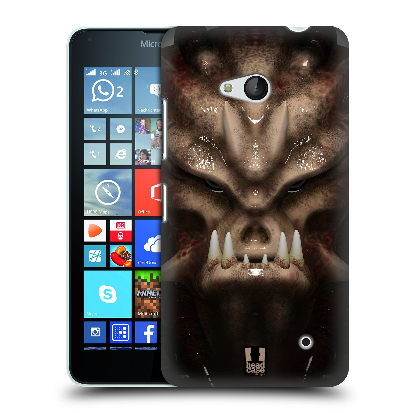 Plastové pouzdro na mobil Microsoft Lumia 640 - Head Case - Ufoun Warhead