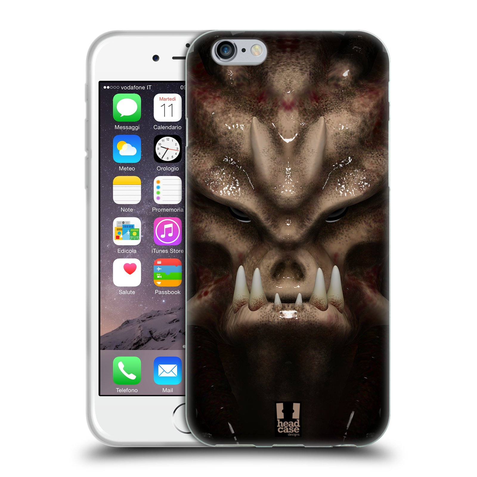 Silikonové pouzdro na mobil Apple iPhone 6 - Head Case - Ufoun Warhead